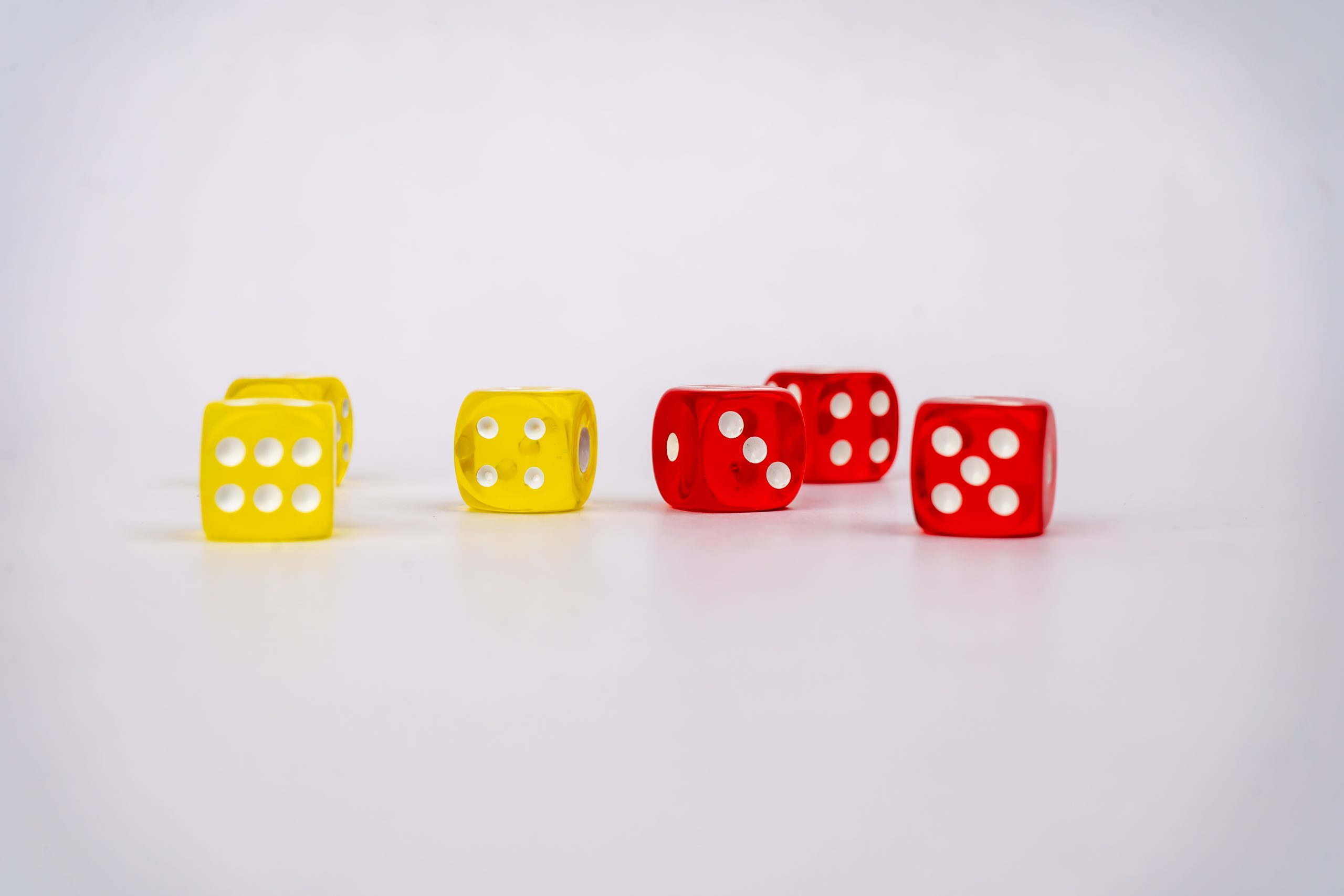 Yellow and Red Dices