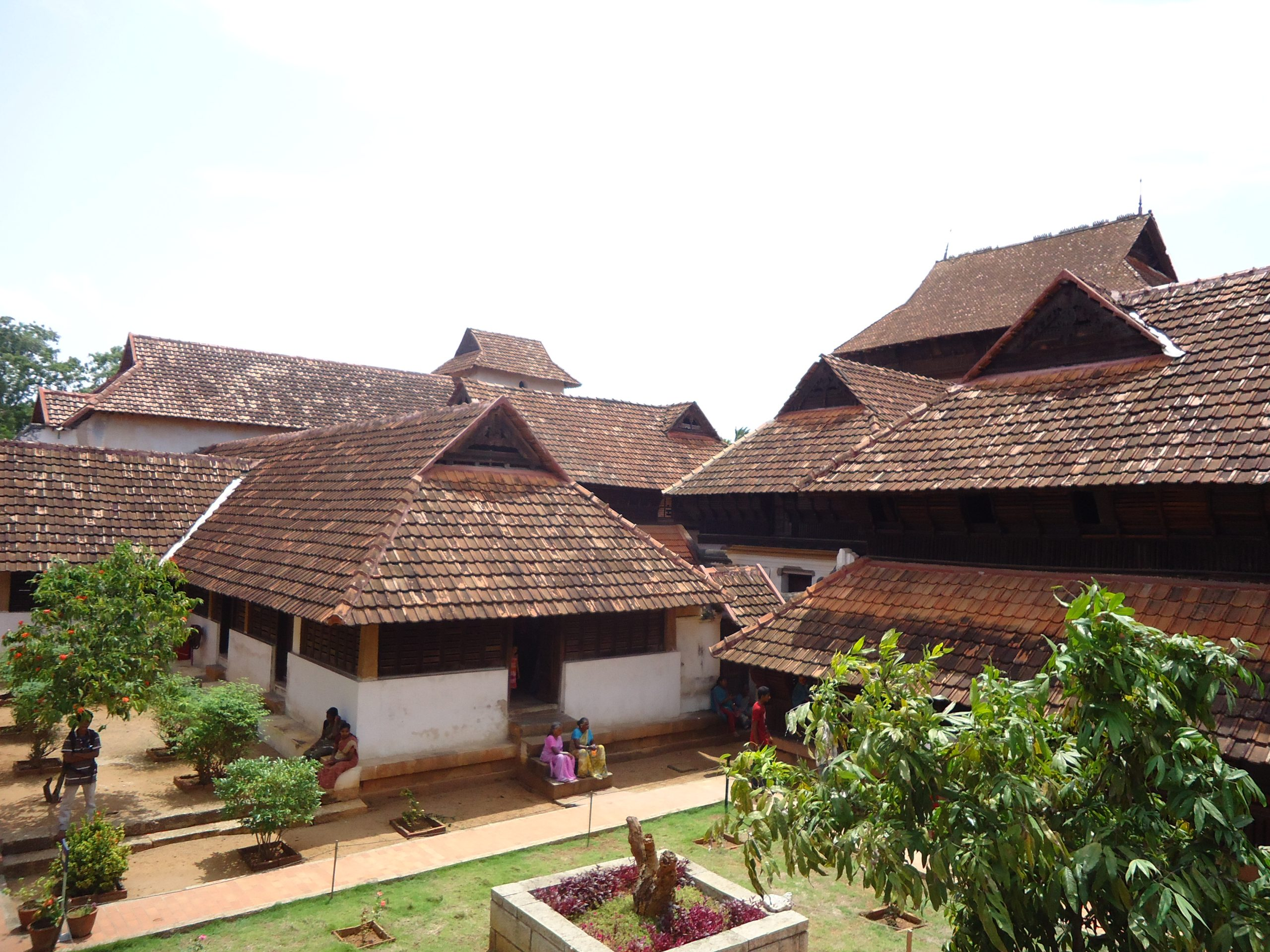 Old style houses in Kerala.