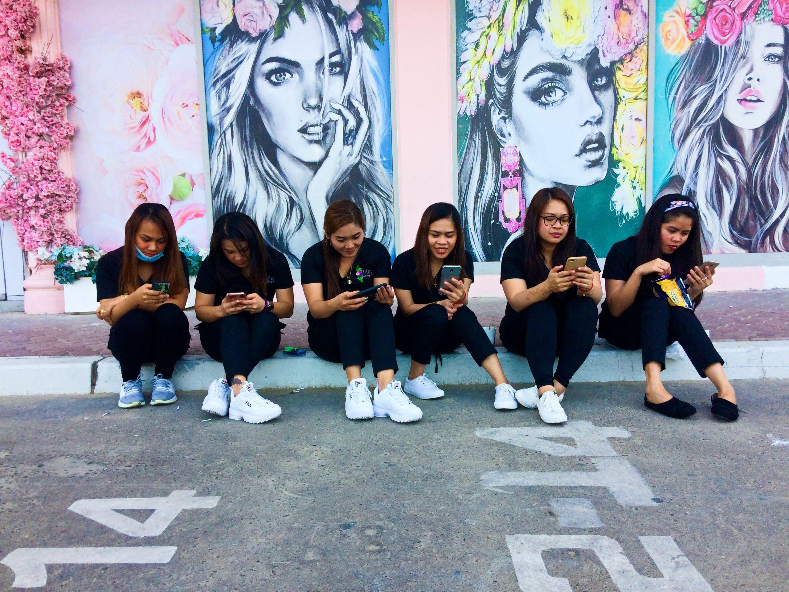 Break time for girls