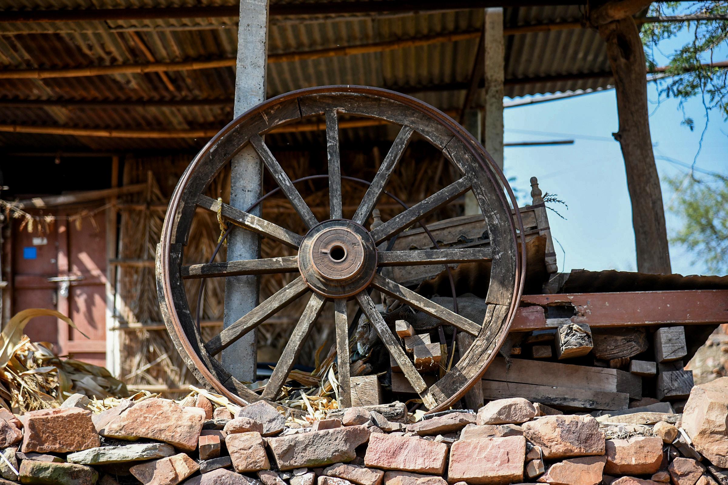 A cart wheel