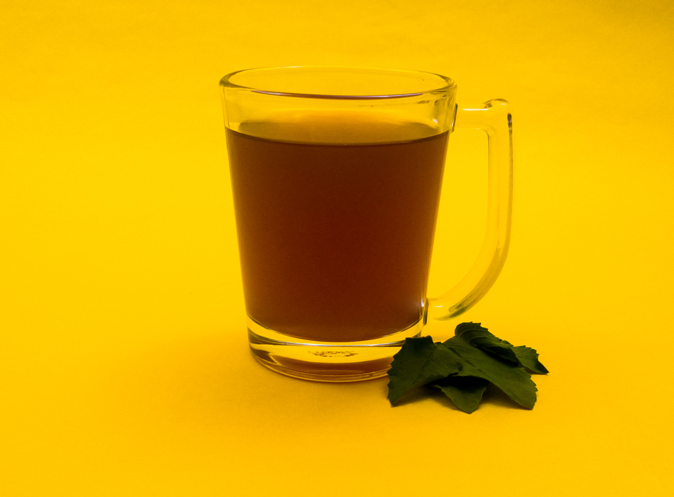 A glass of healthy green tea