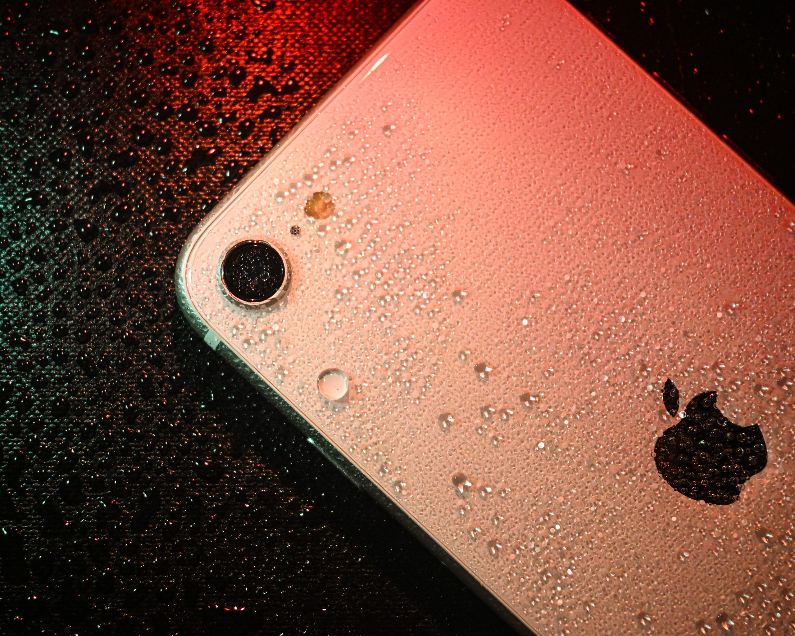 iPhone with a Water Drop