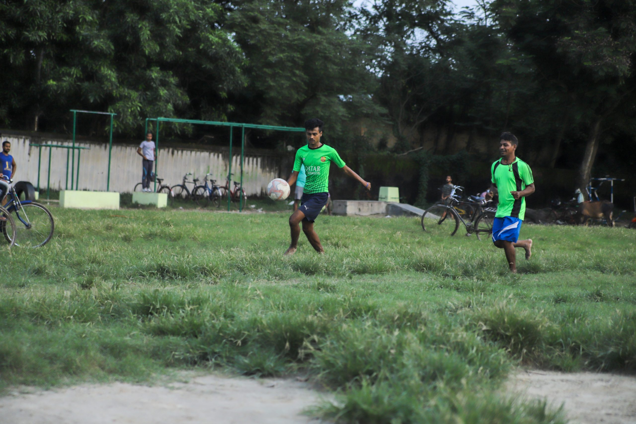 Indian boys playing football