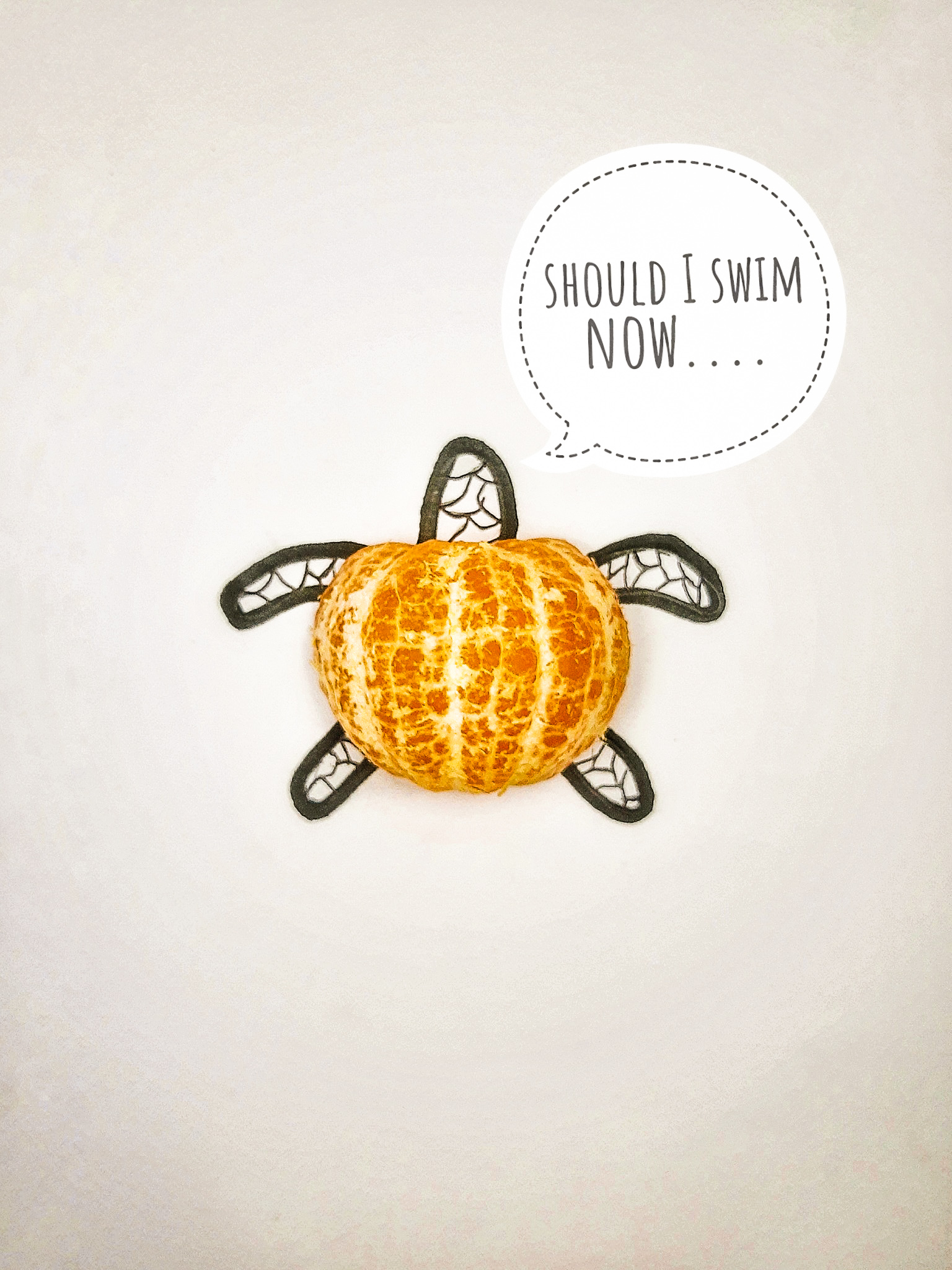 A peeled orange
