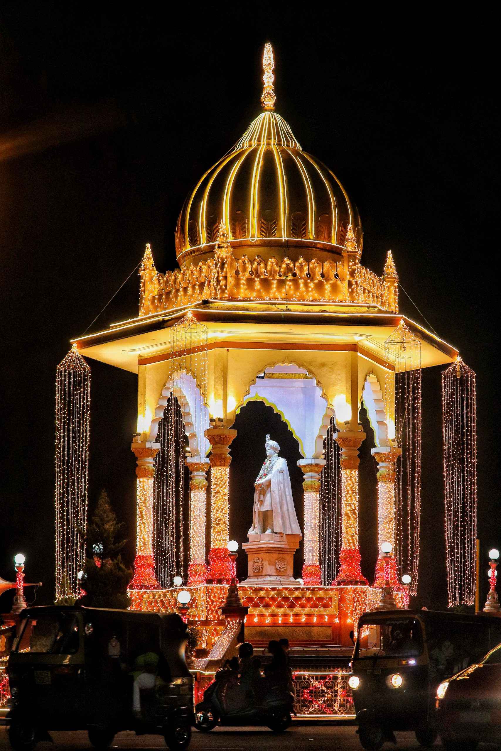 King of Mysore Monument in Lights