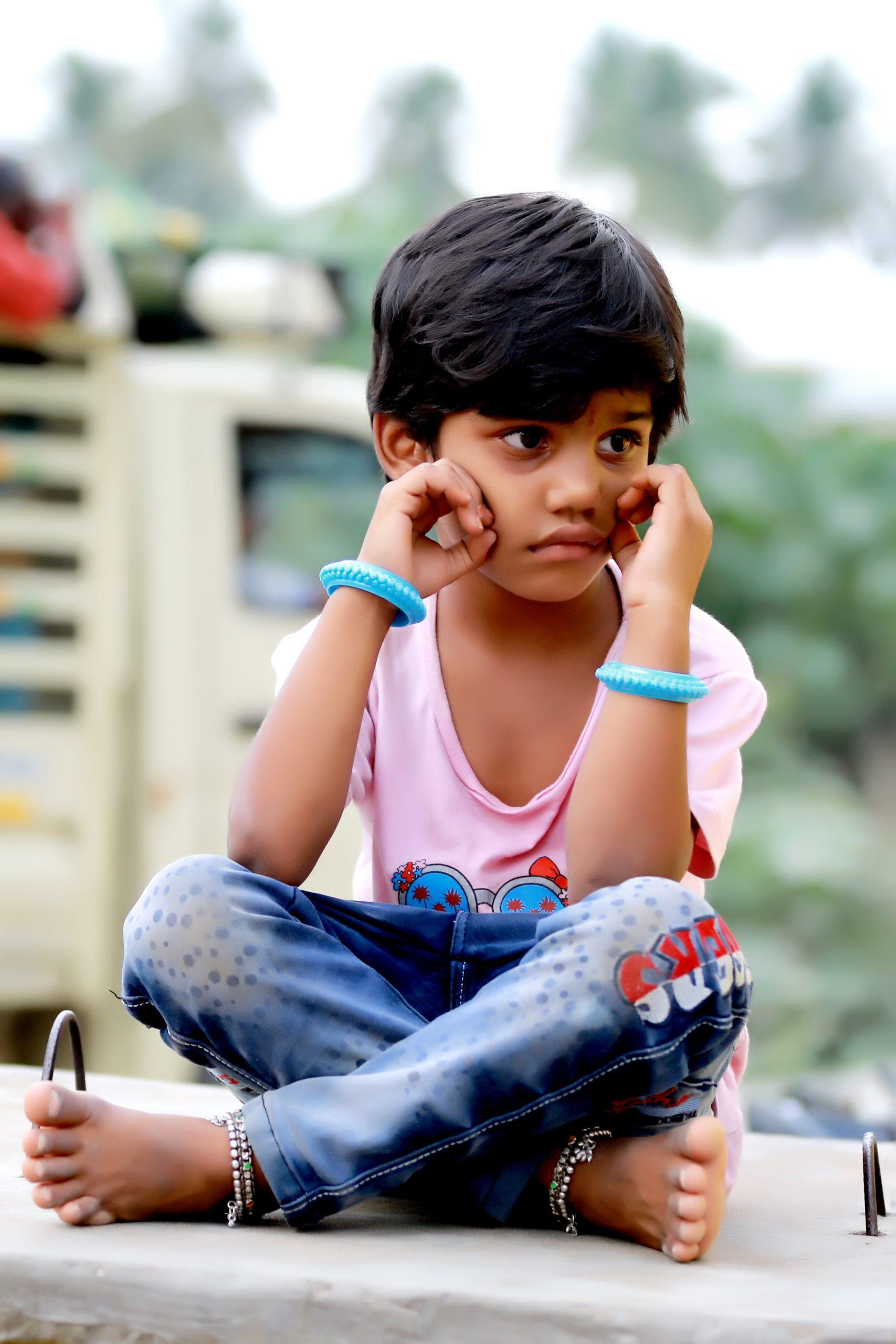 indian kid on the street