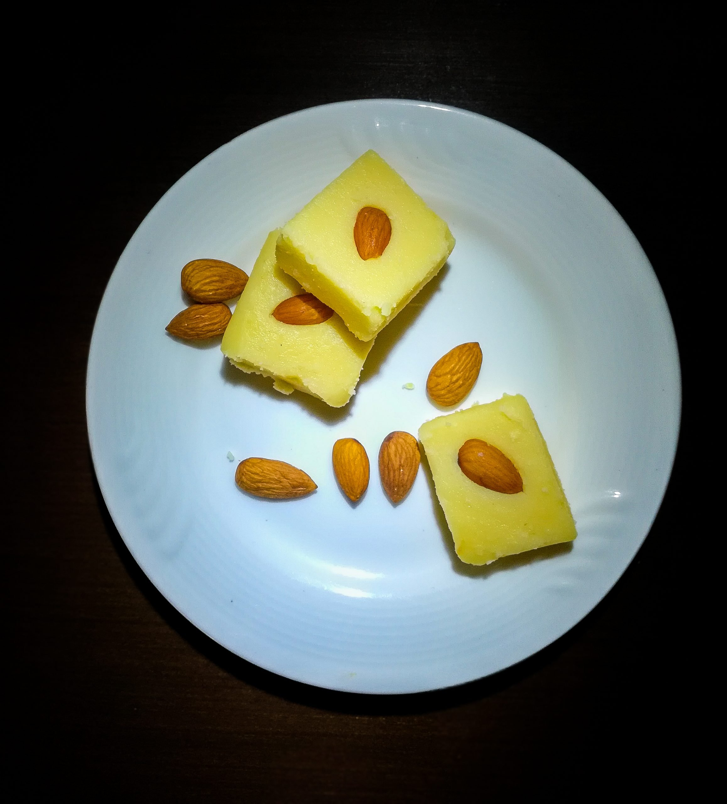 sweets in white plate