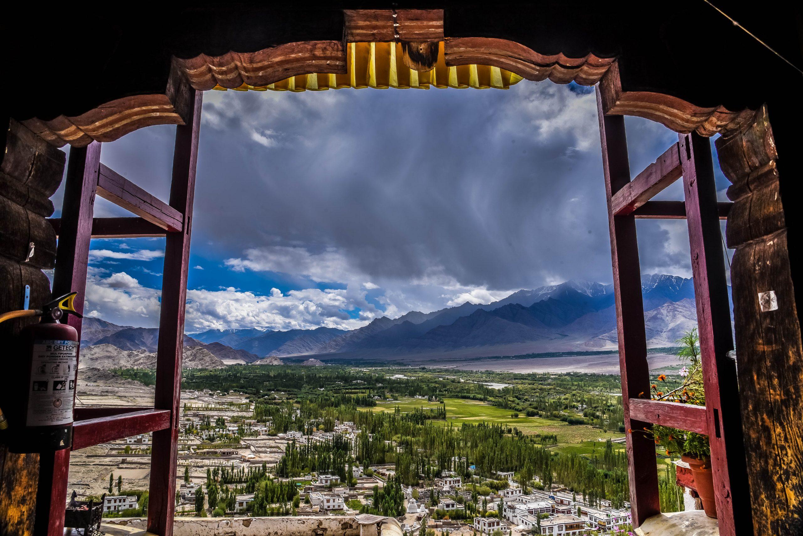 Ladakhs beauty outside the window.