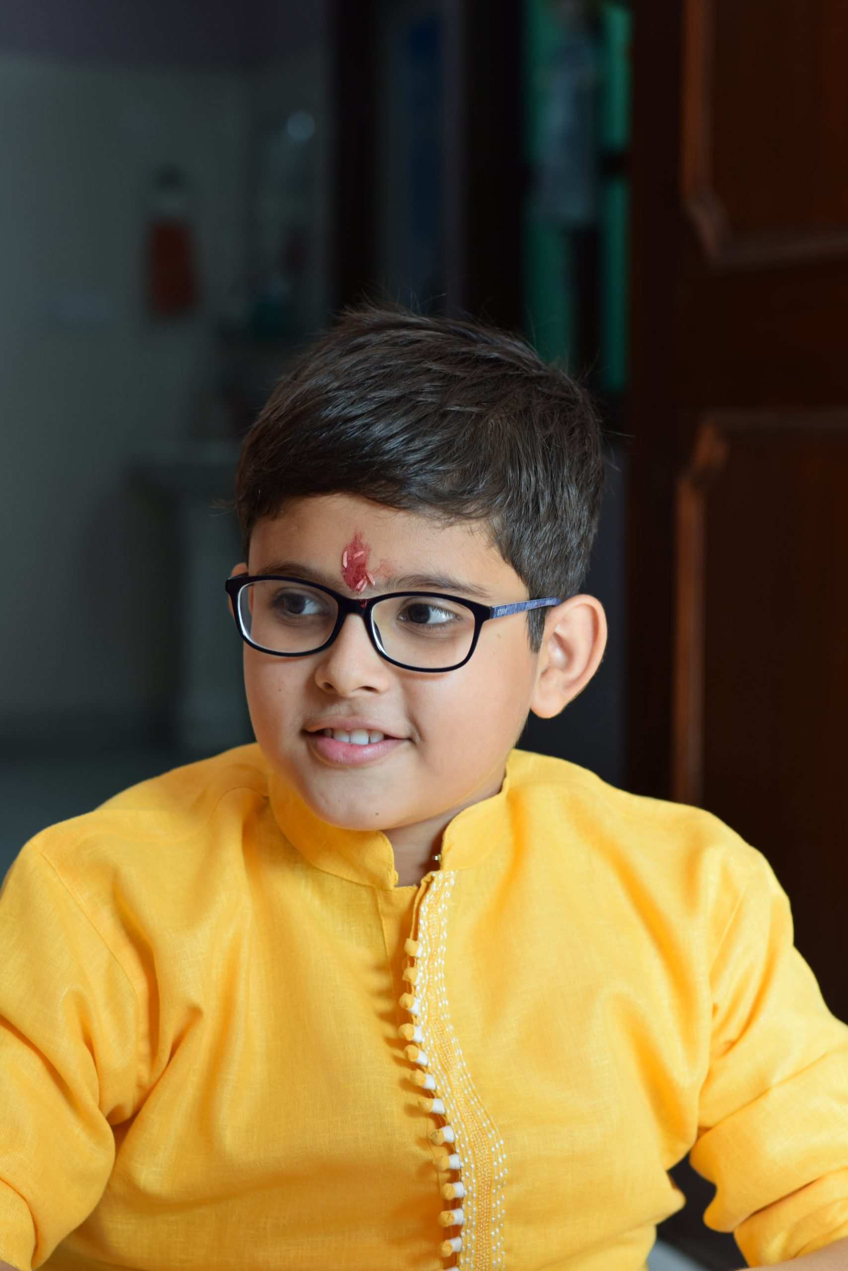 boy in ethnic wear