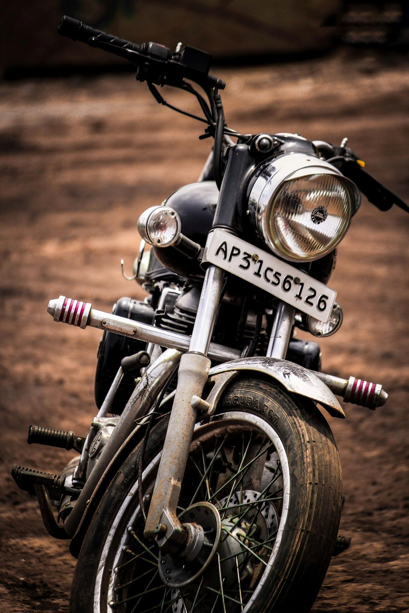 A Royal Enfield bike