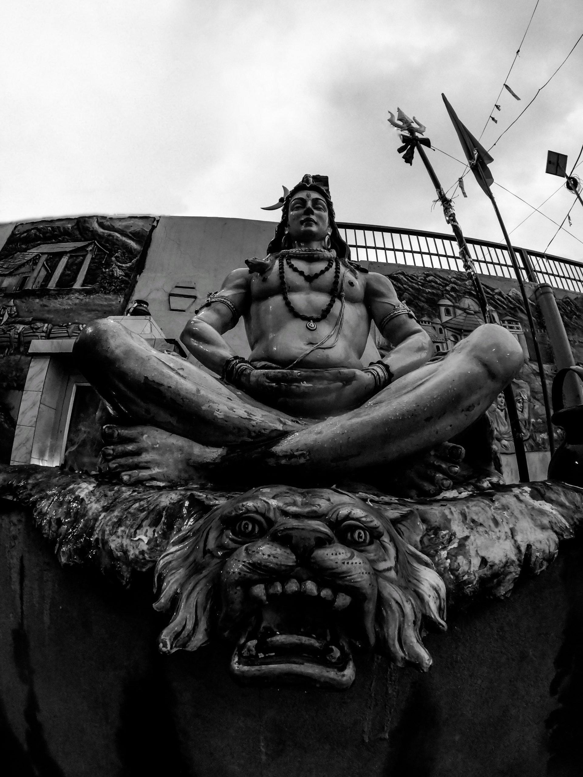 A big statue of Lord Shiva
