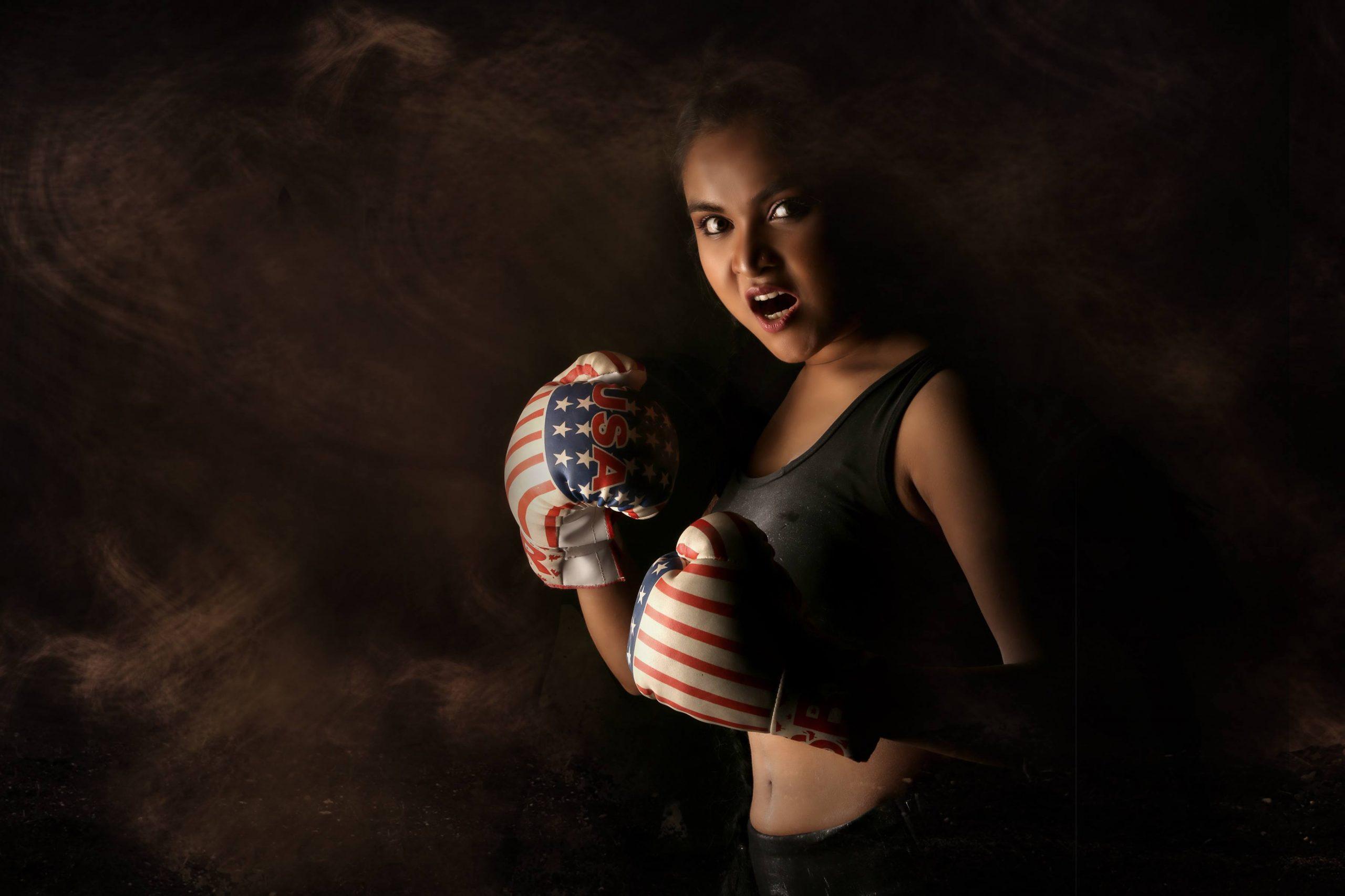 A boxer girl