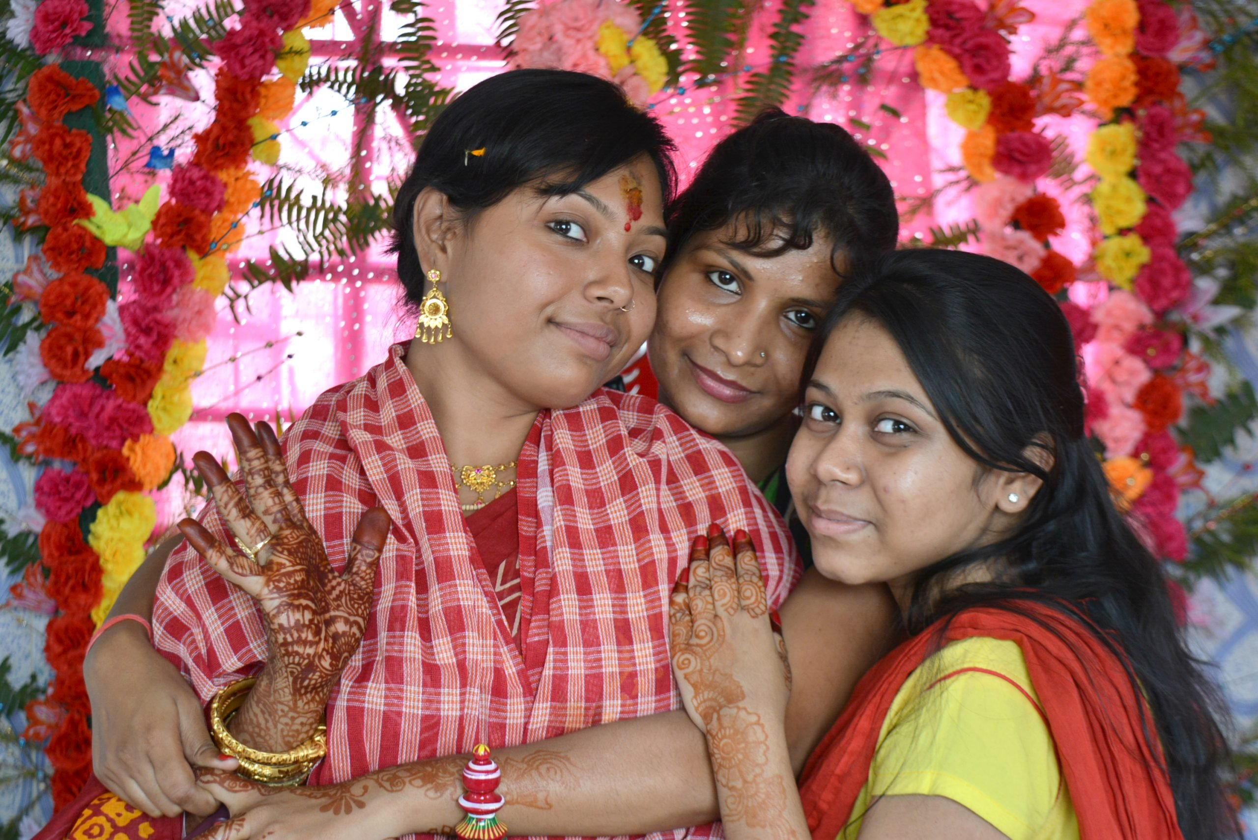 A bride and her friends