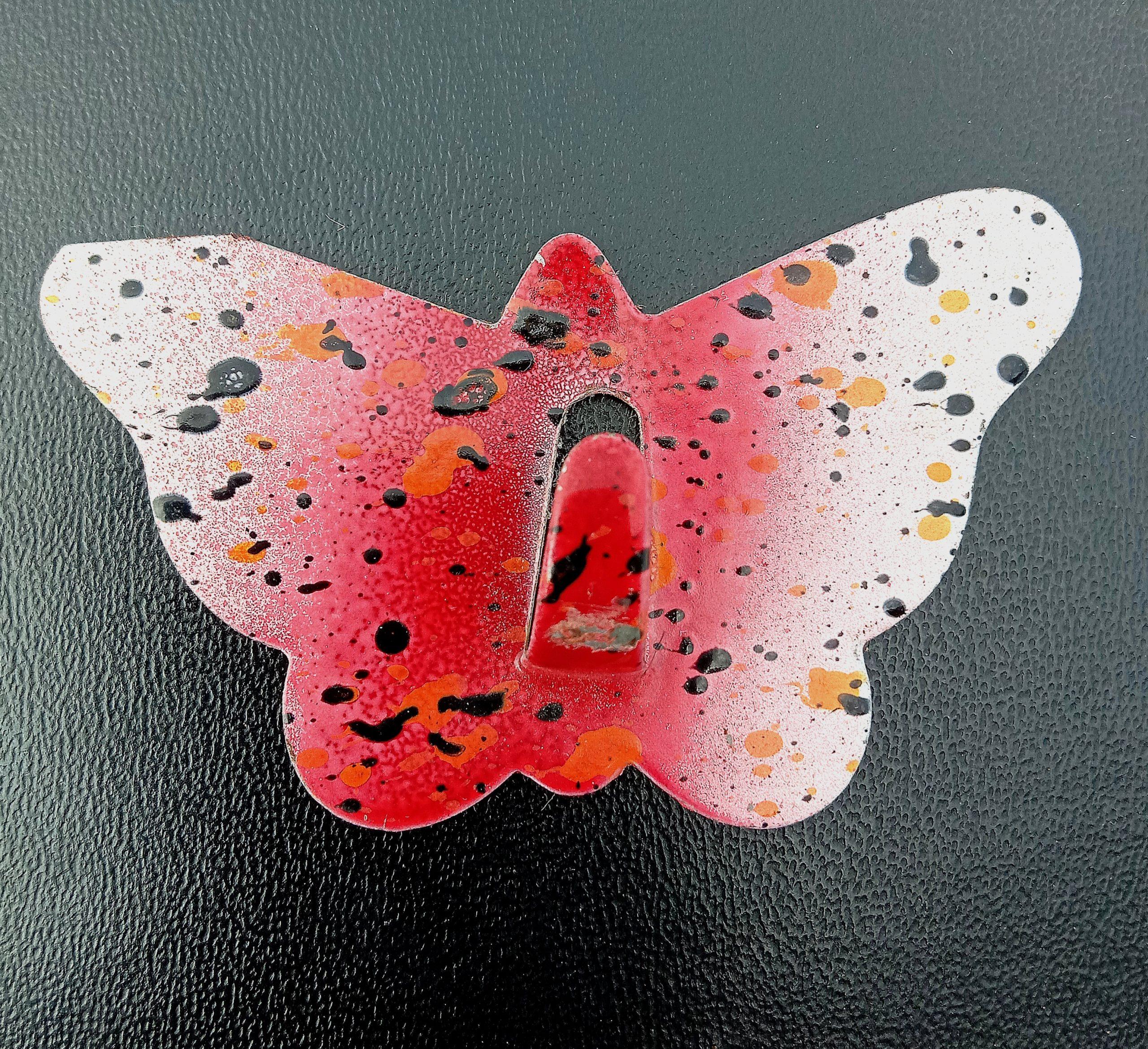 A butterfly hanger