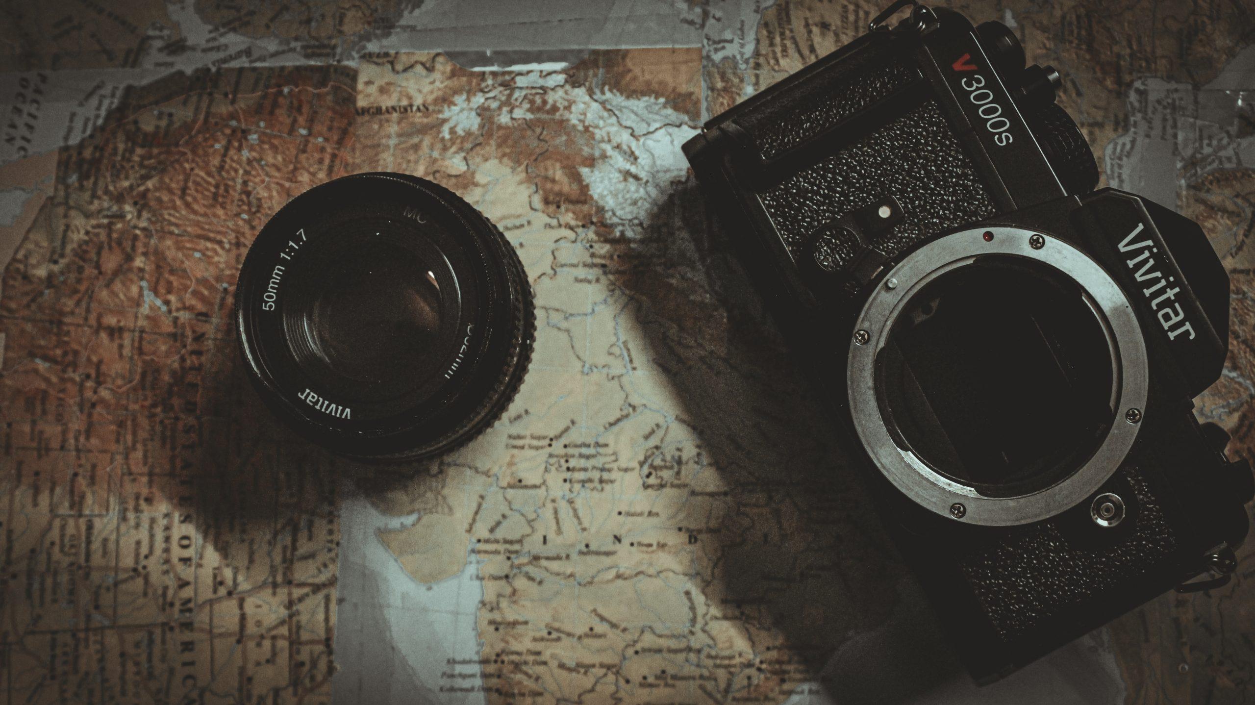 A camera and lens cap