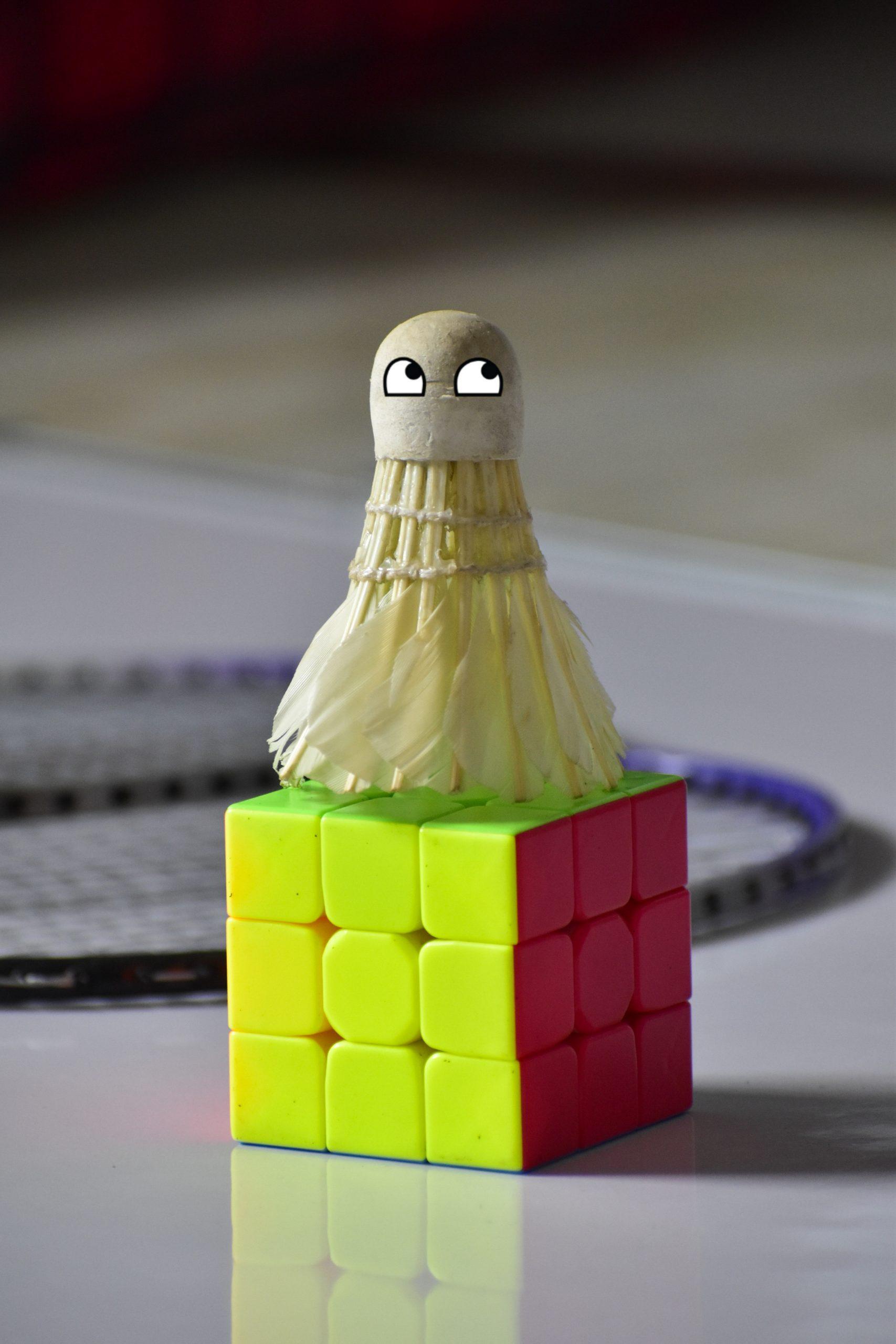 A cork on a cube