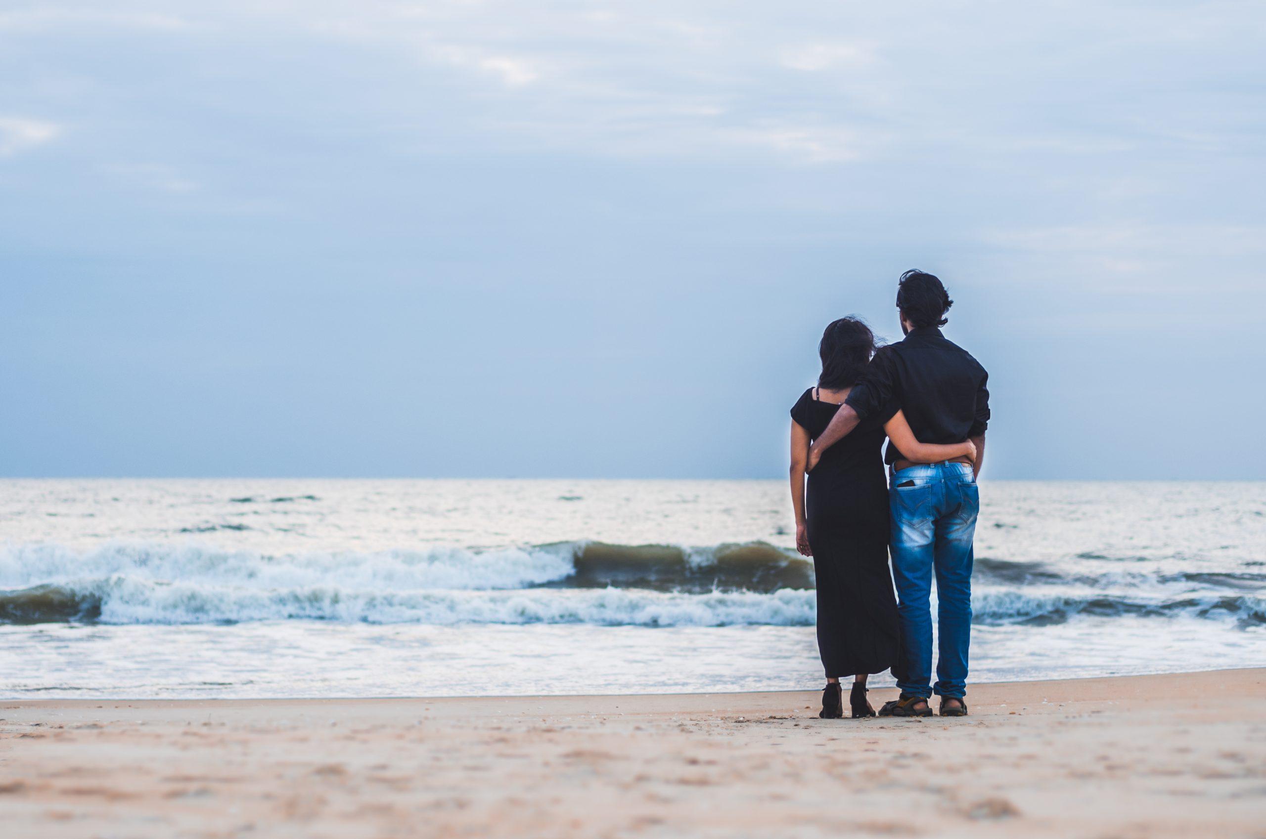 A couple at a beach