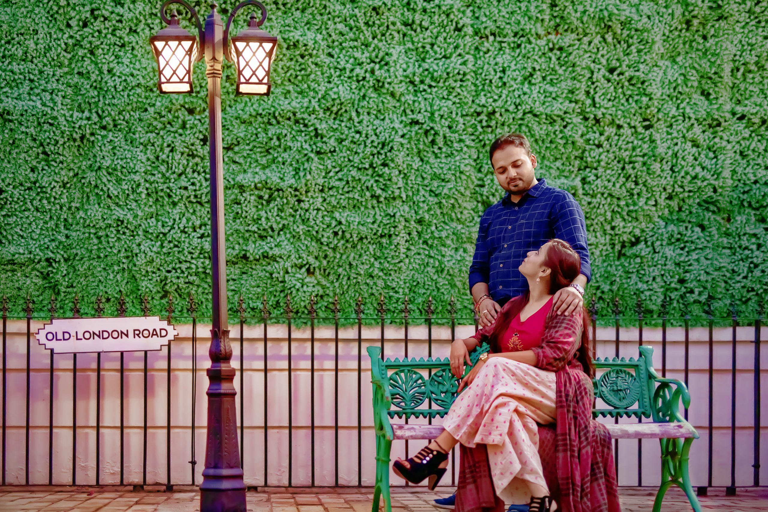 A couple at a public place