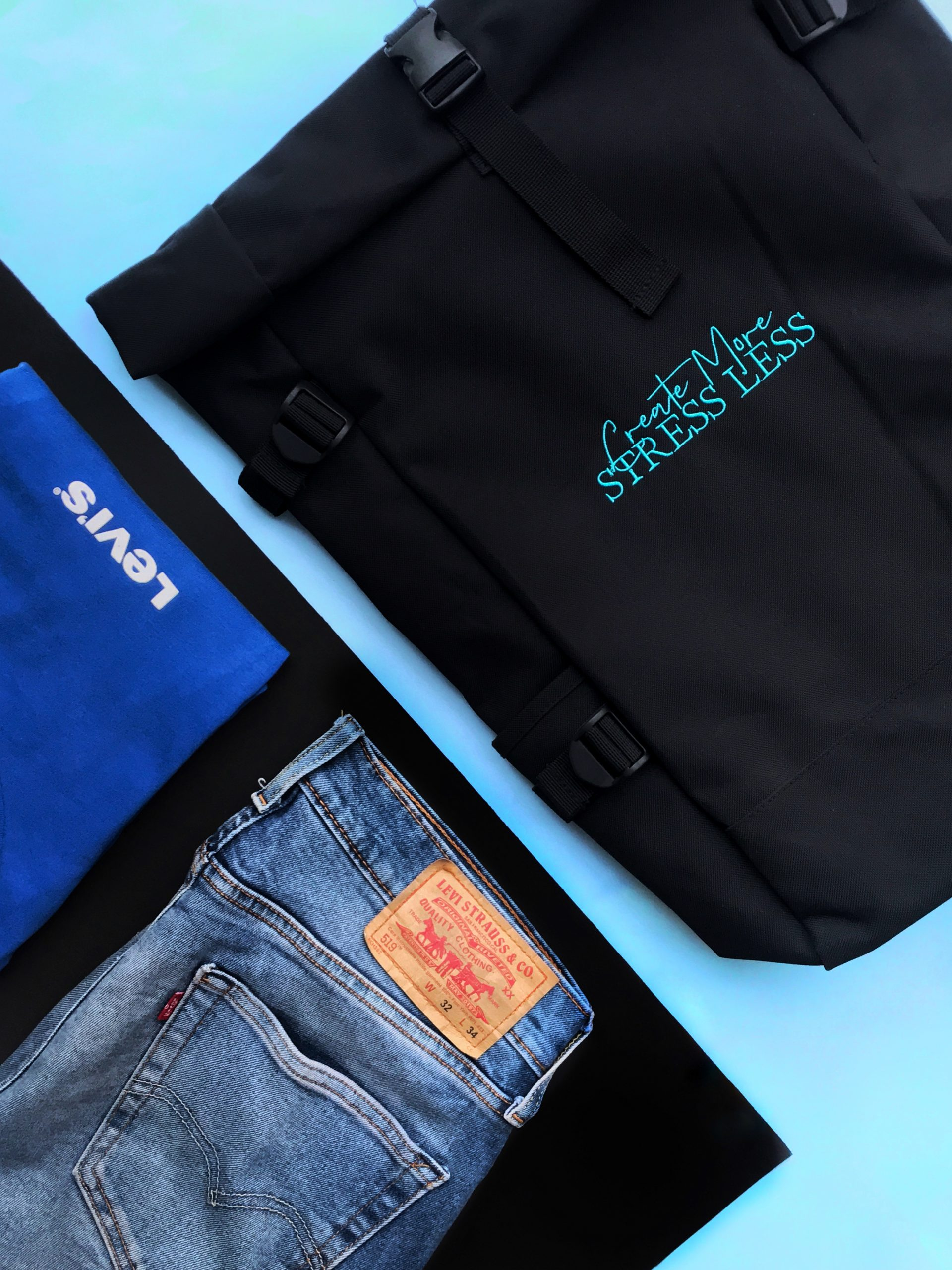 apparel and backpack