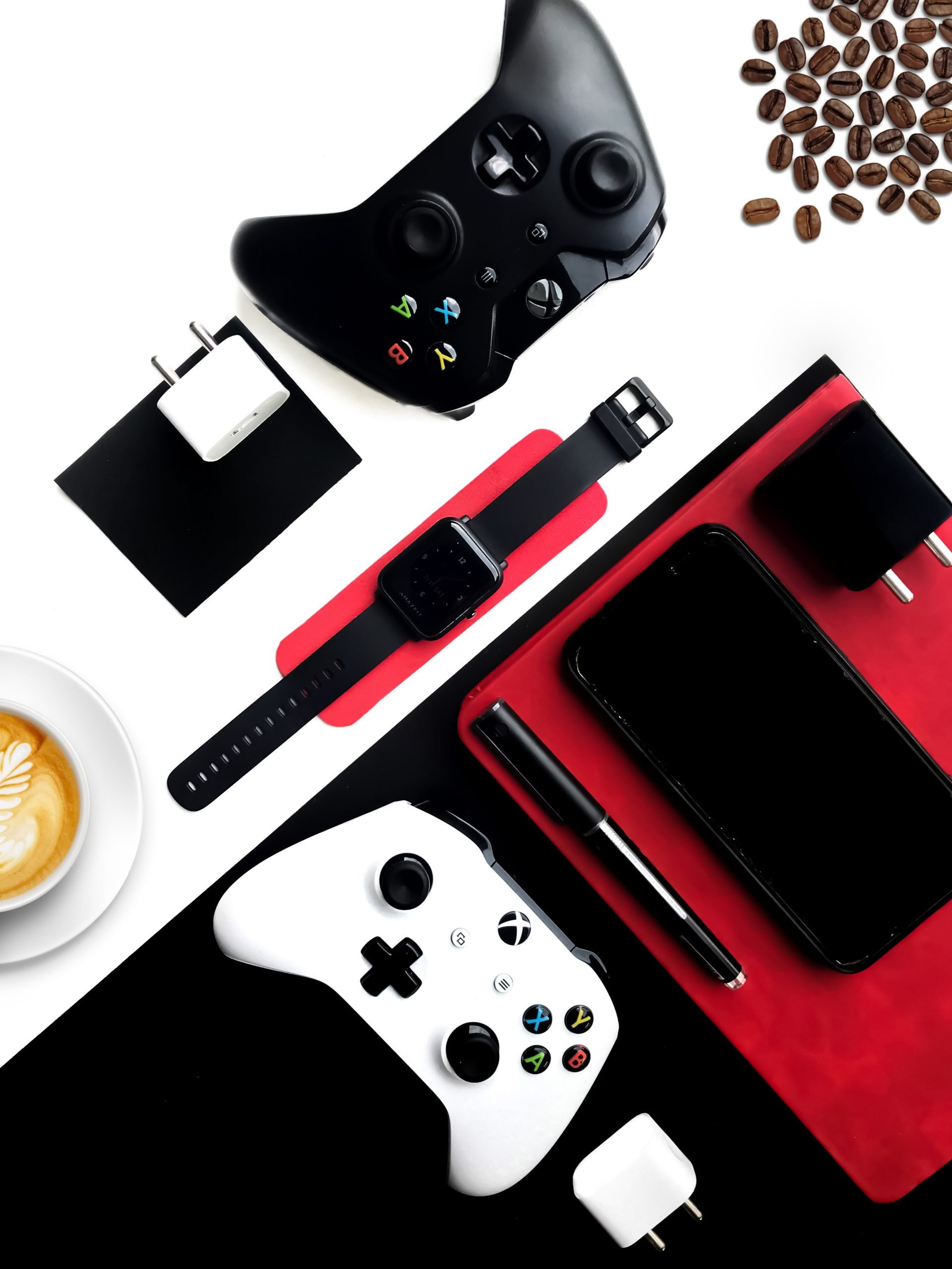 A flatlay of different gadgets