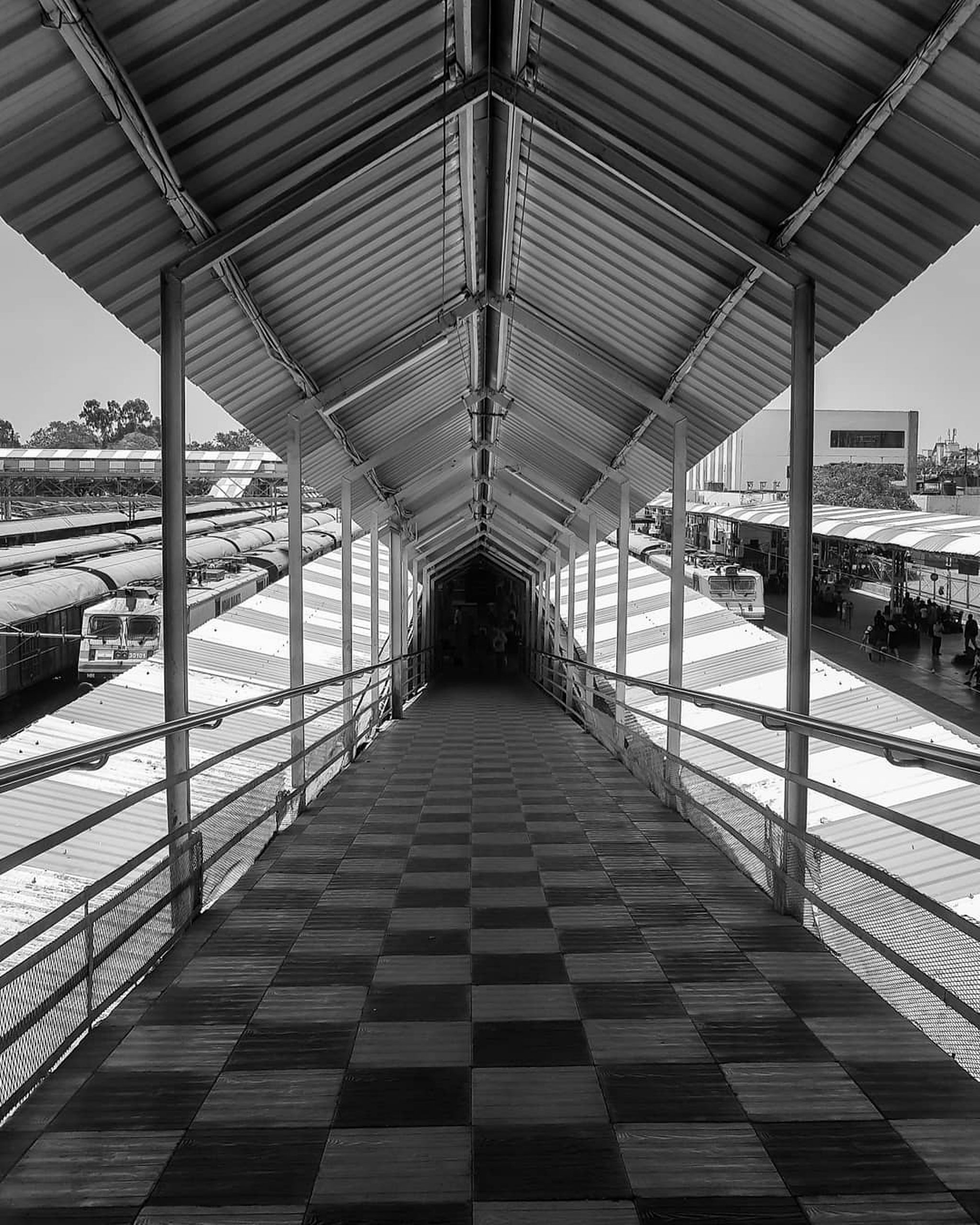 A footbridge at Dadar station