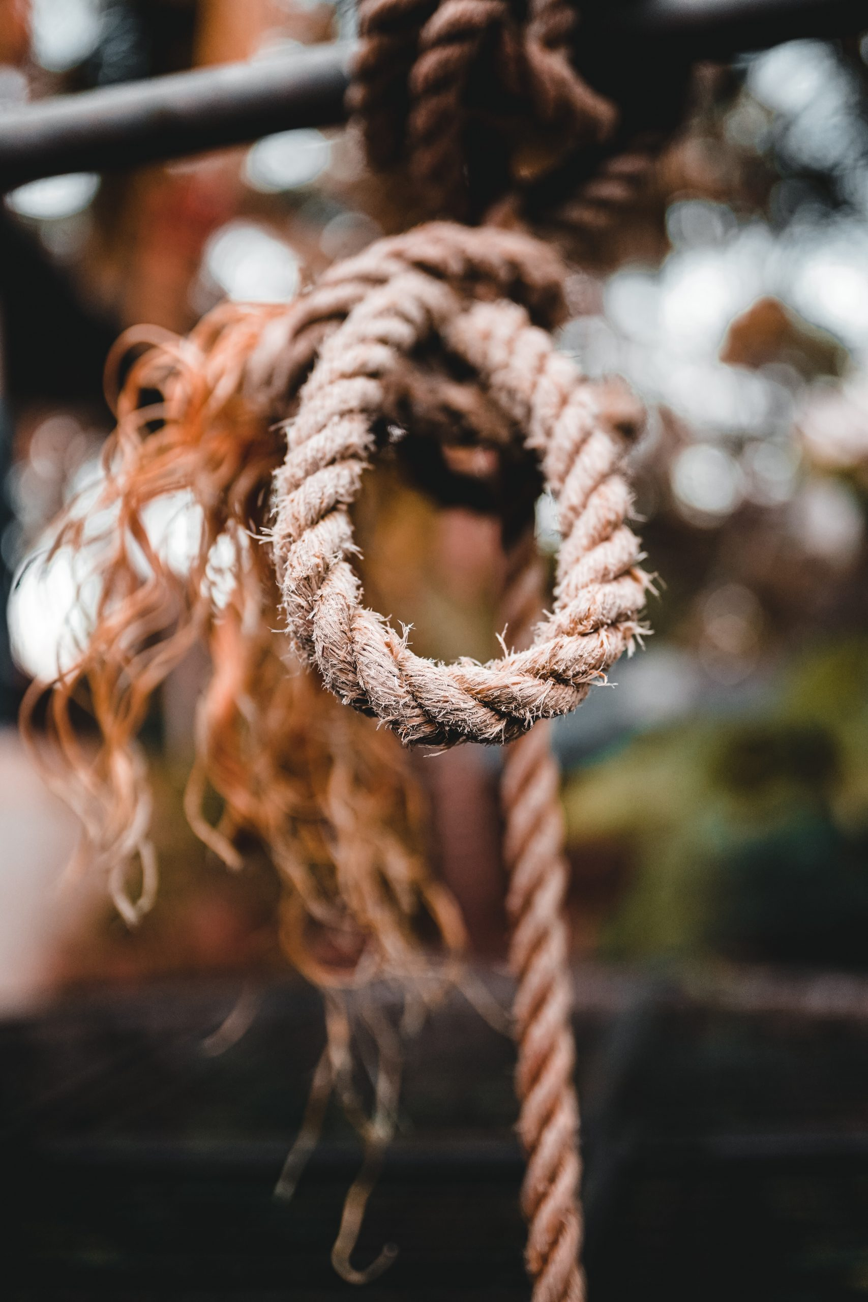 A frayed rope
