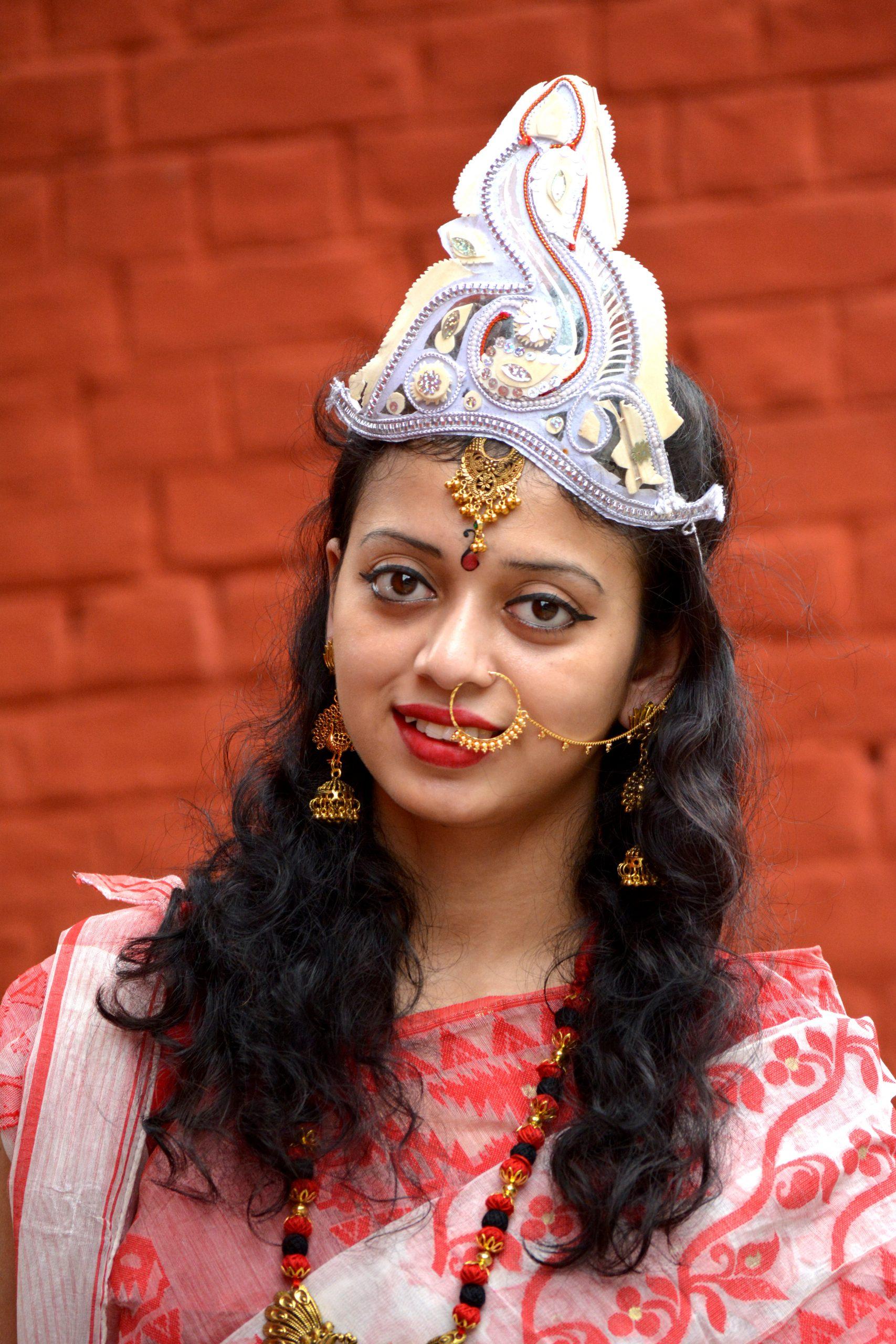 A girl in goddess costume