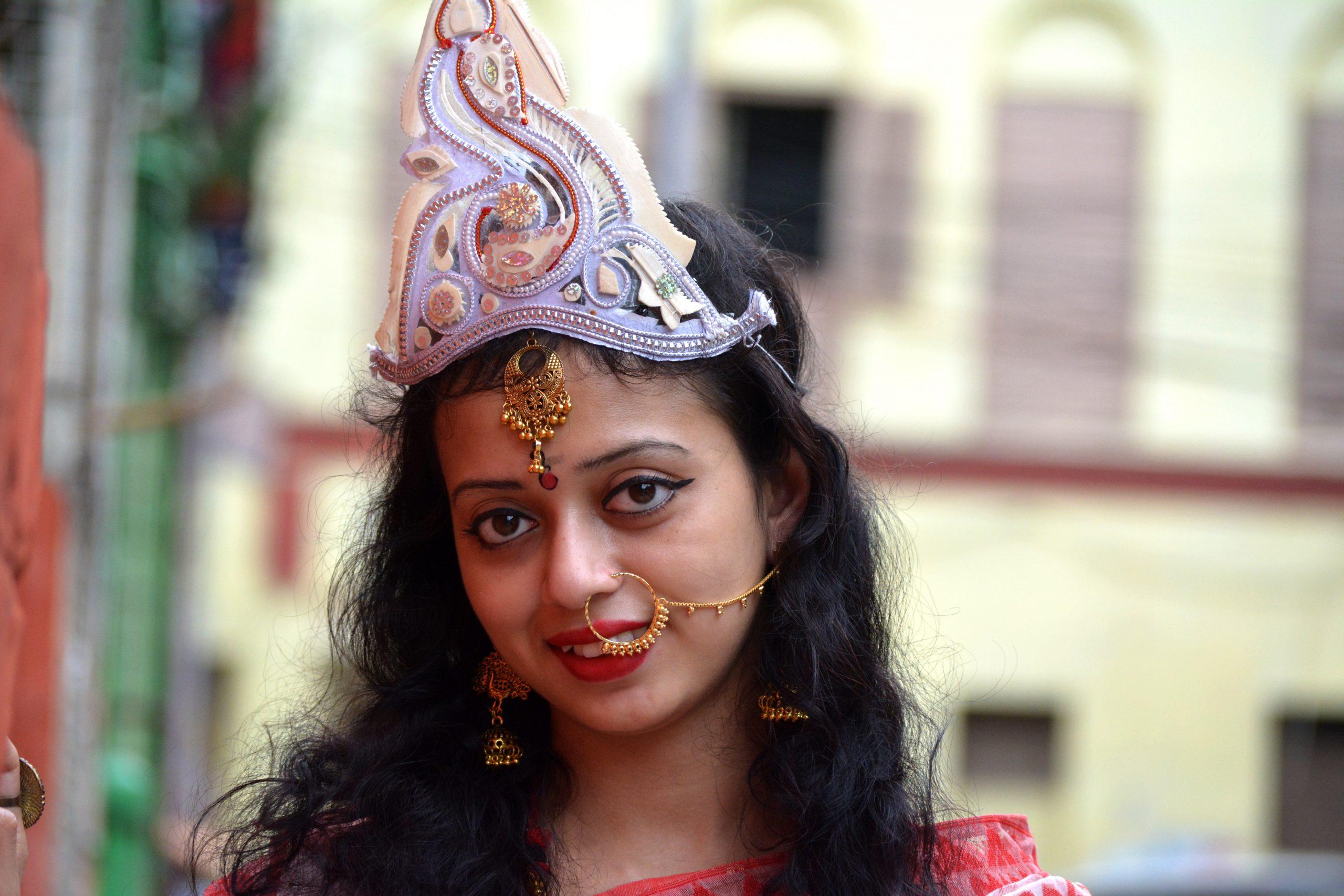 A girl in goddess makeover