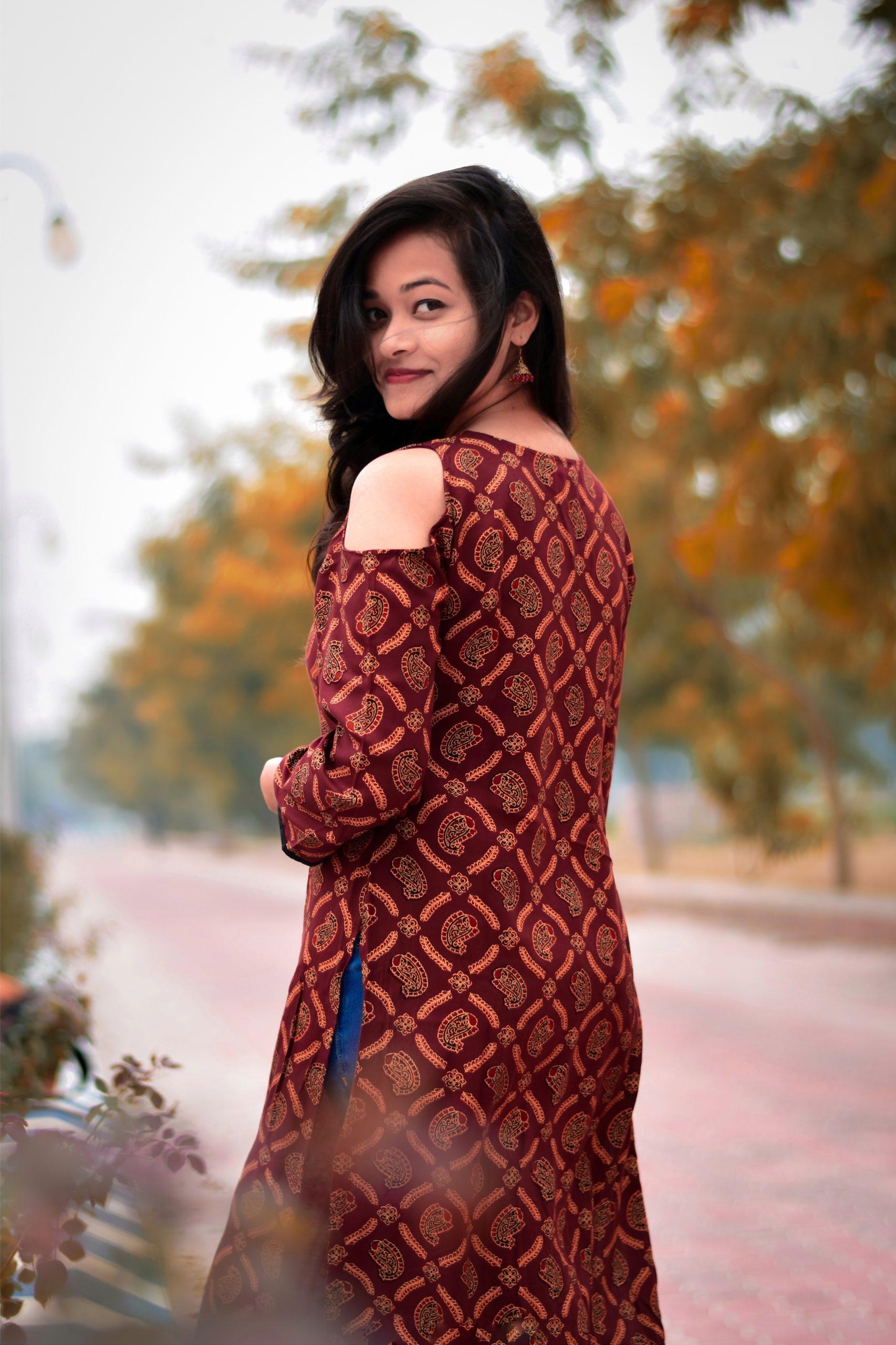 A girl in salwar suit posing