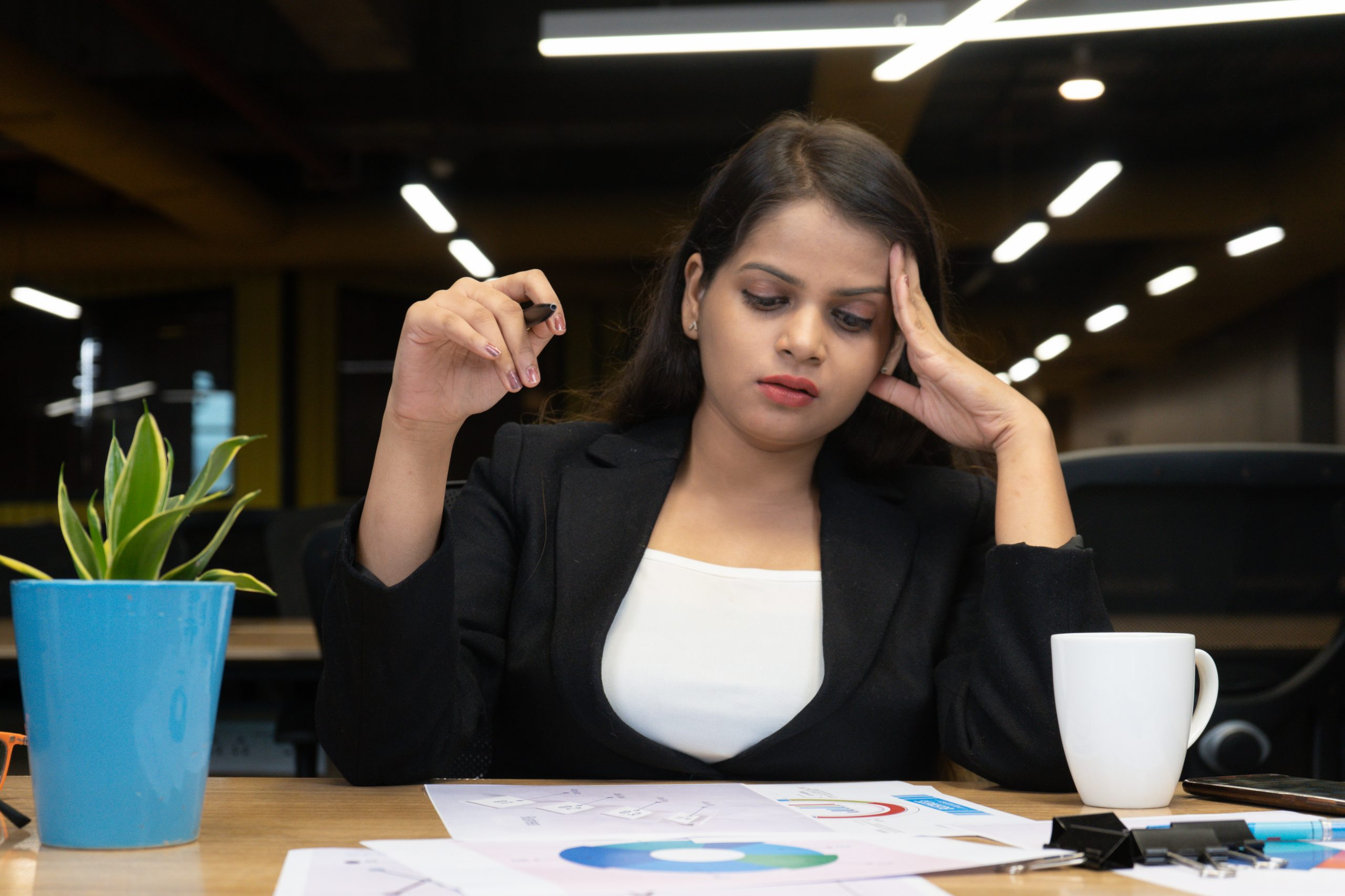 girl working in office