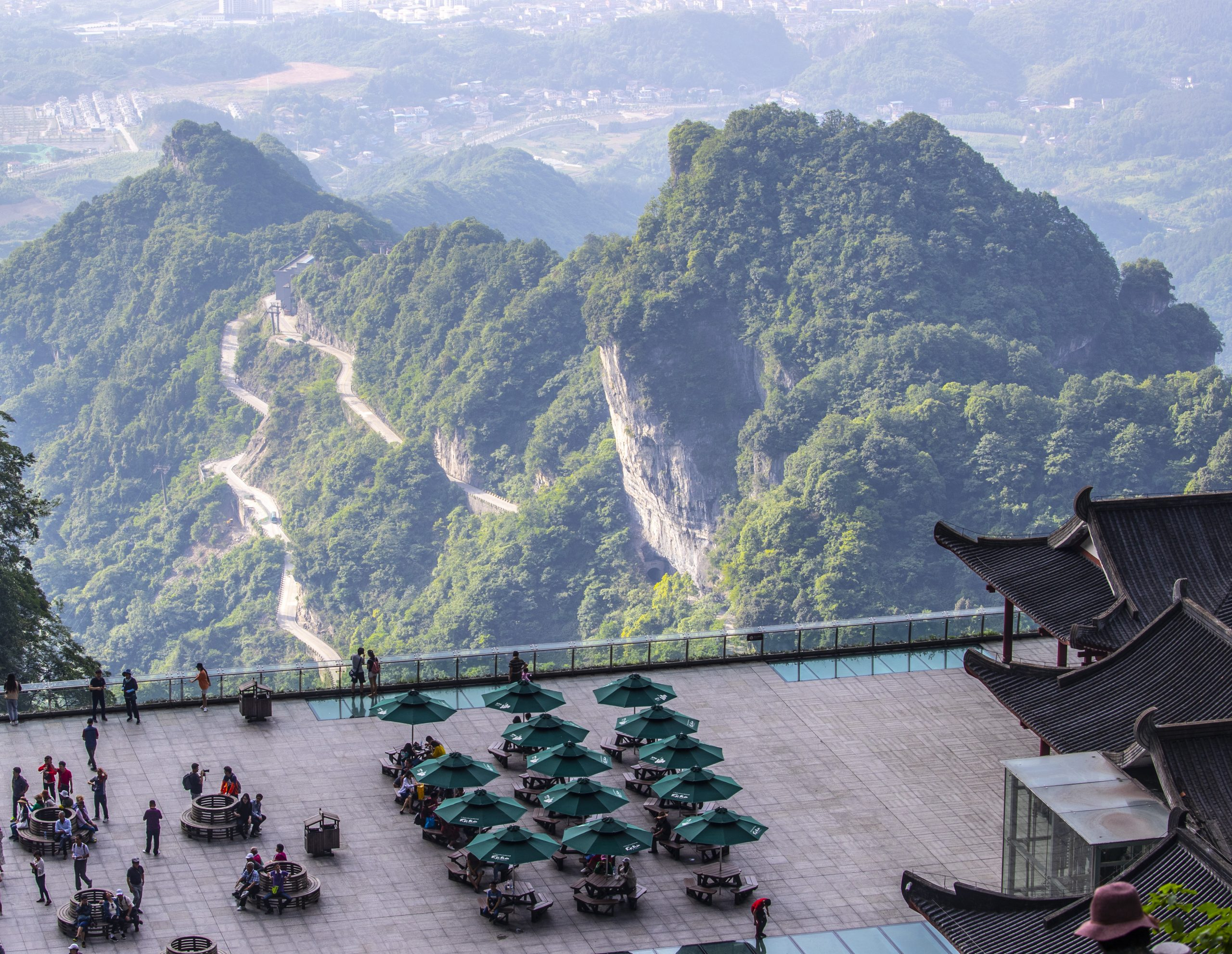 A hotel at mountain top in China