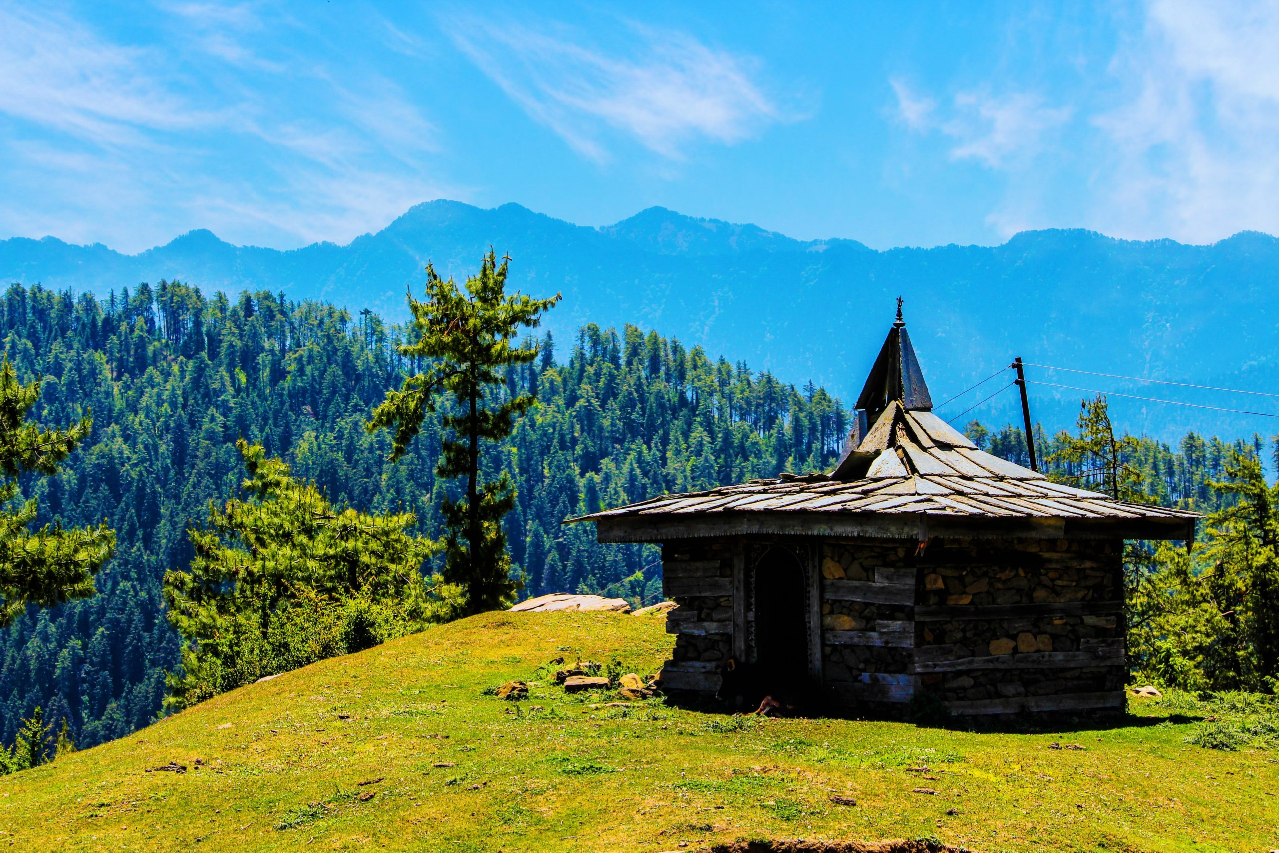 A hut on a mountain top