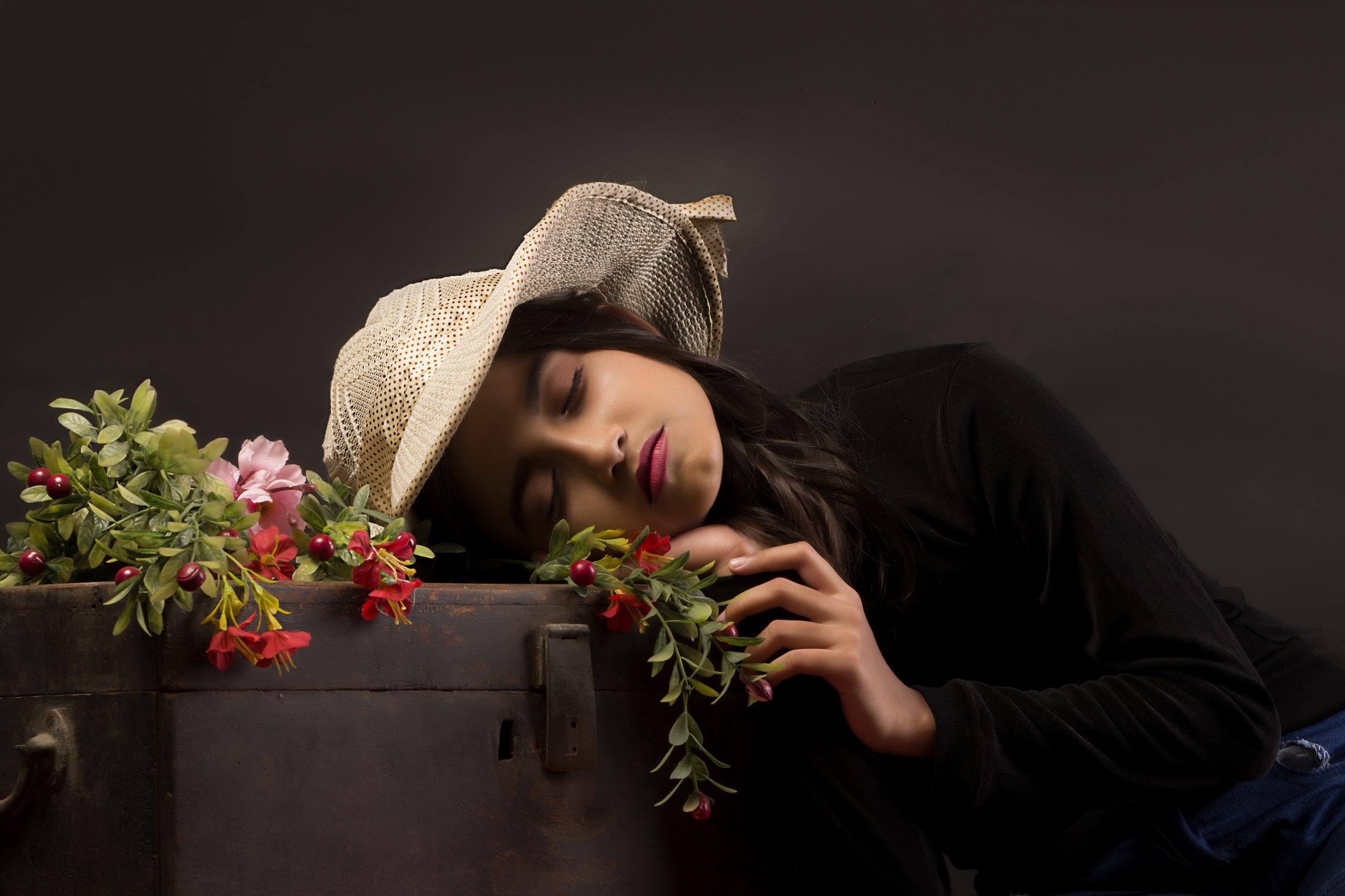 A little girl sleeping