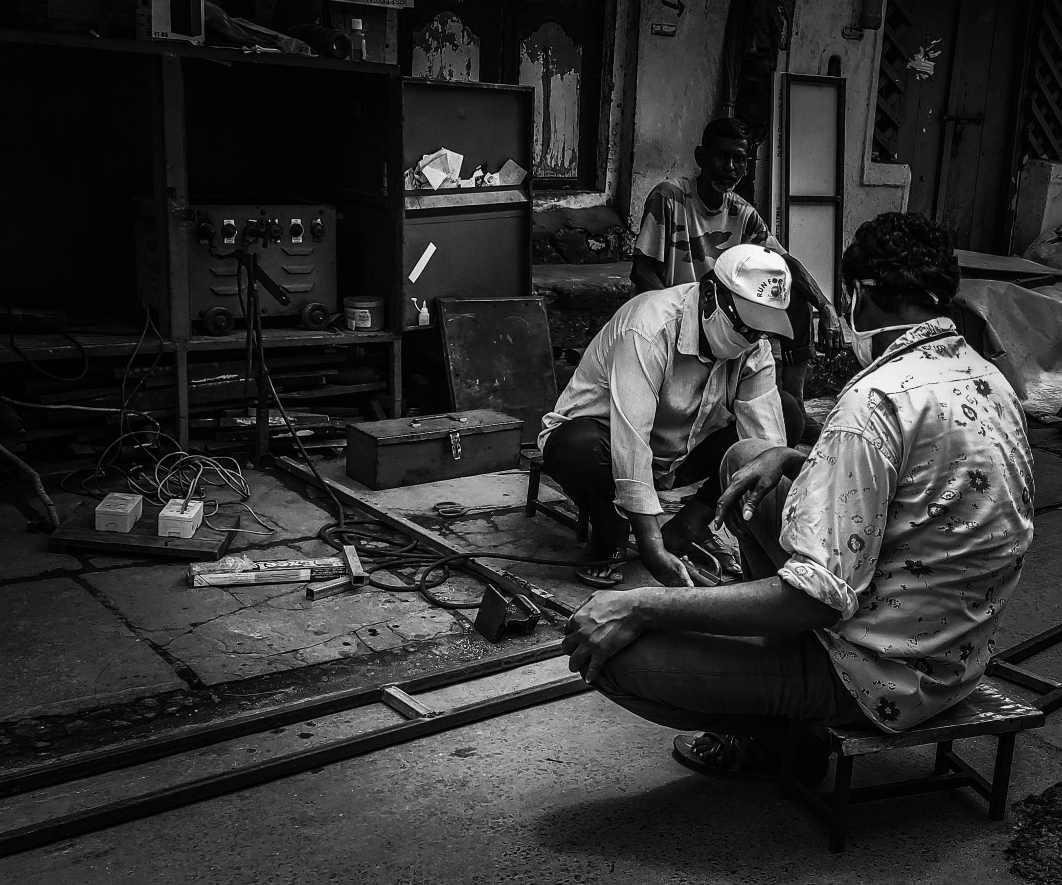 A metalsmith shop