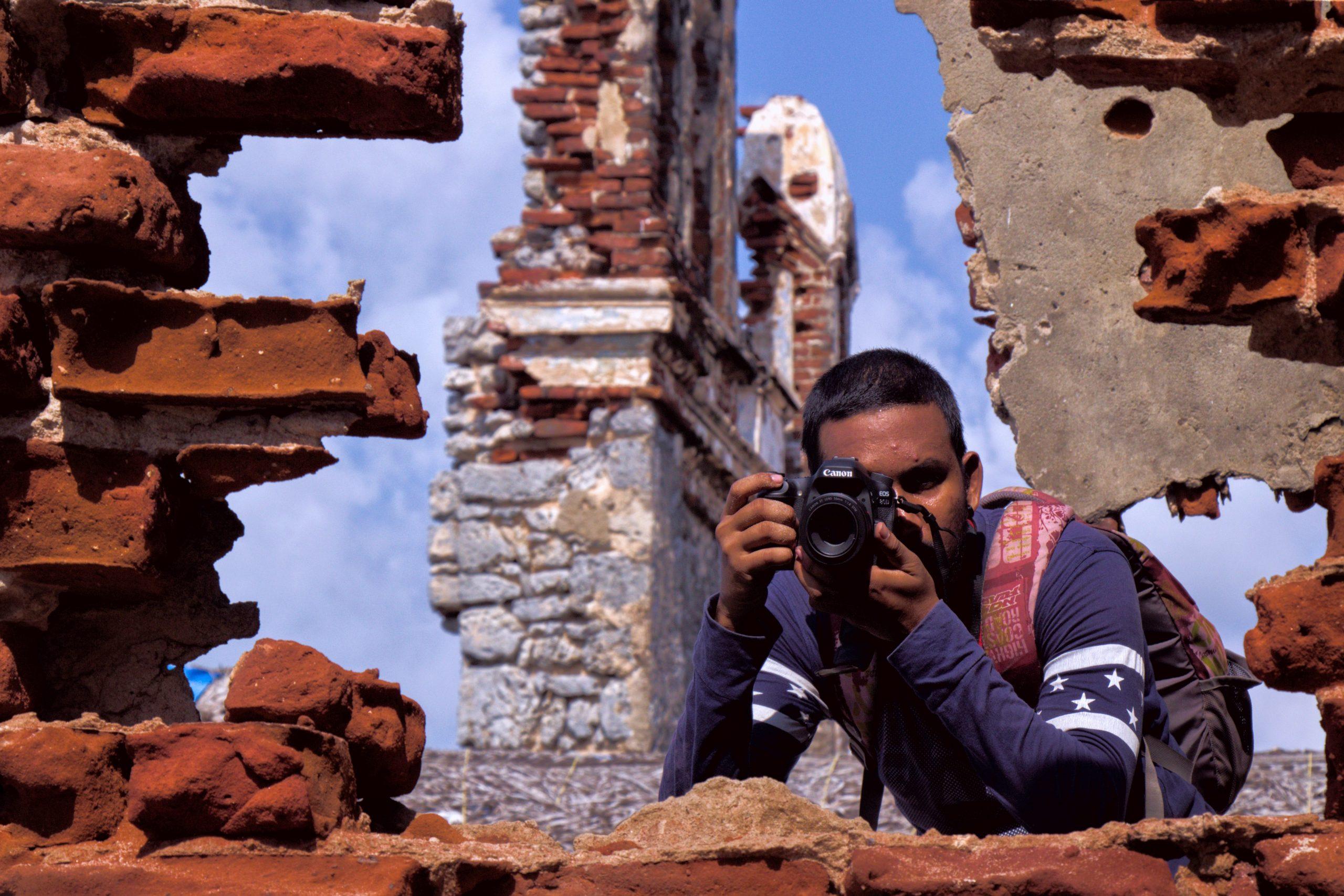 A photographer taking shot