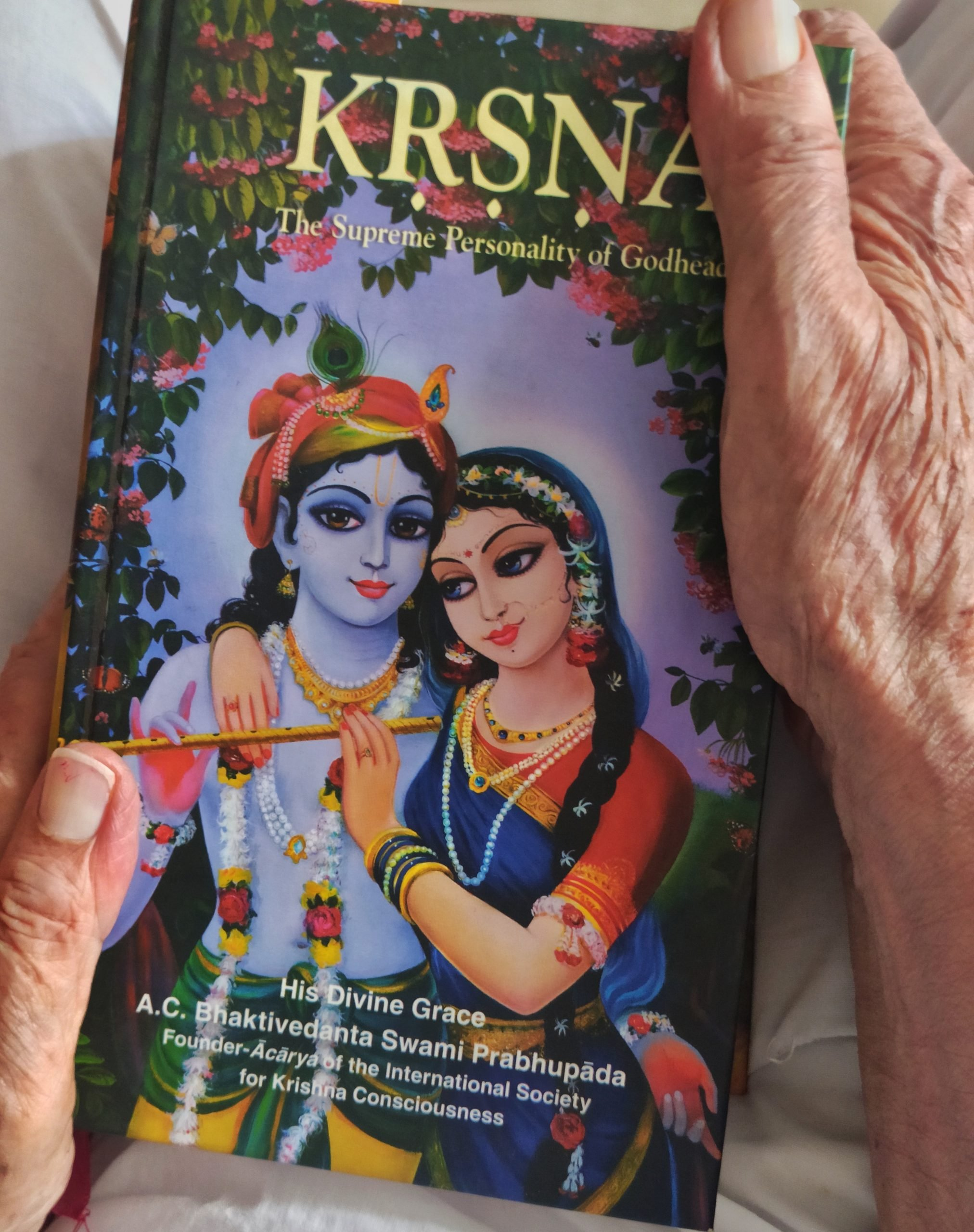 A religious book in hands