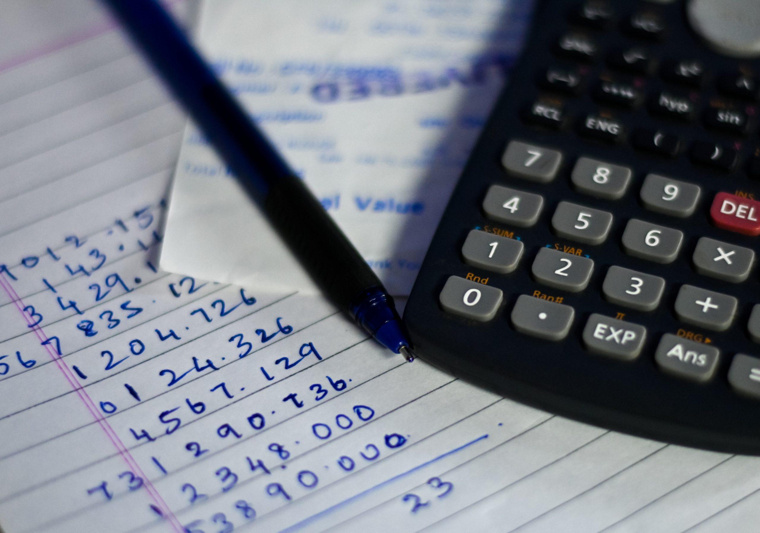 A scientific calculator