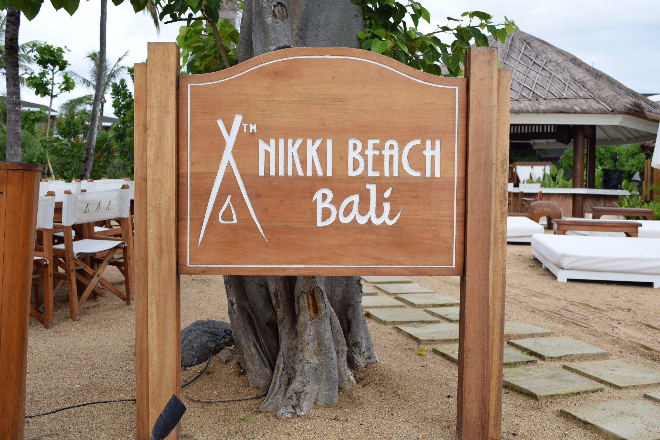 A signage board in Bali