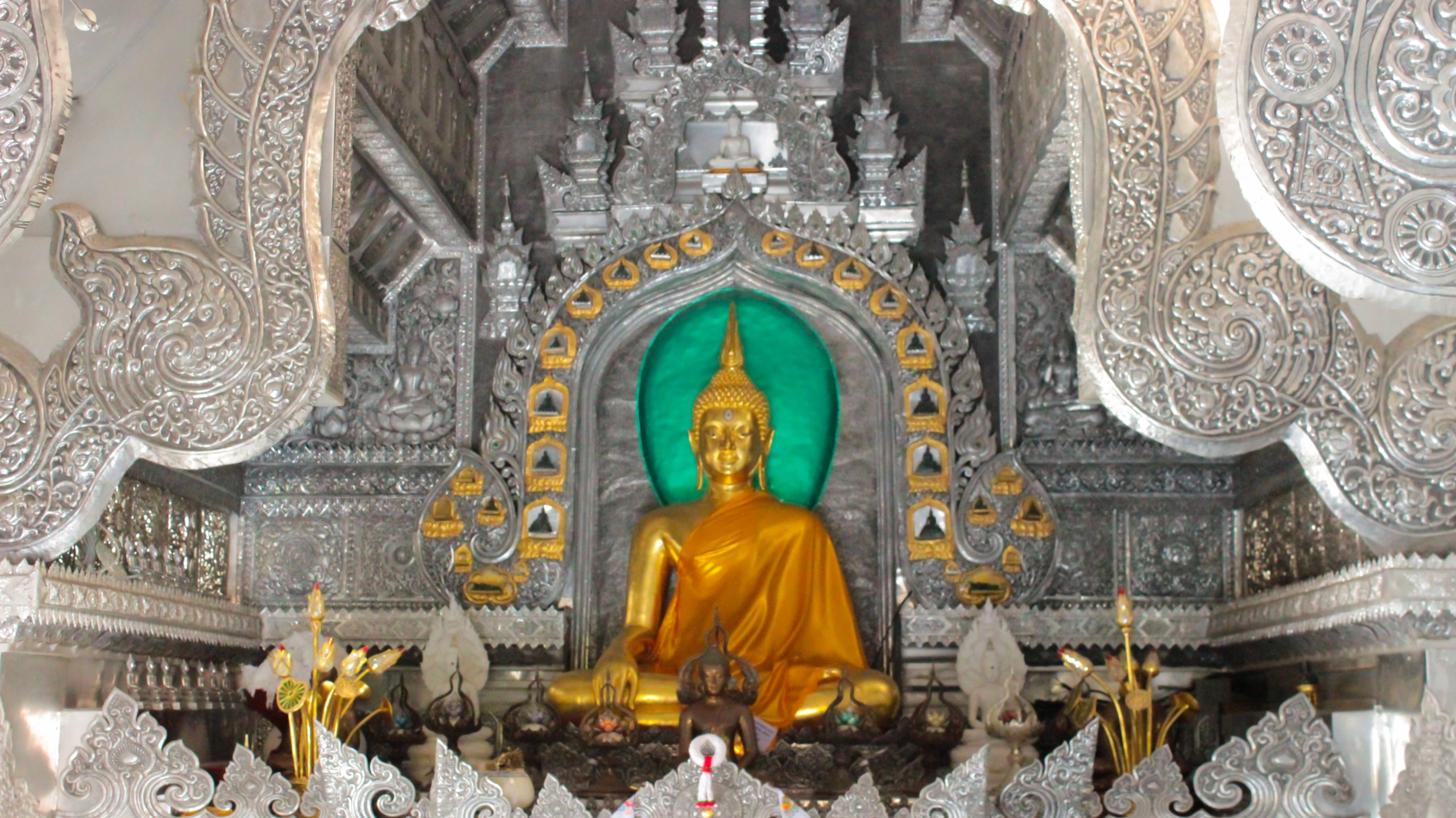 A silver Temple in Chiang Mai , Thailand