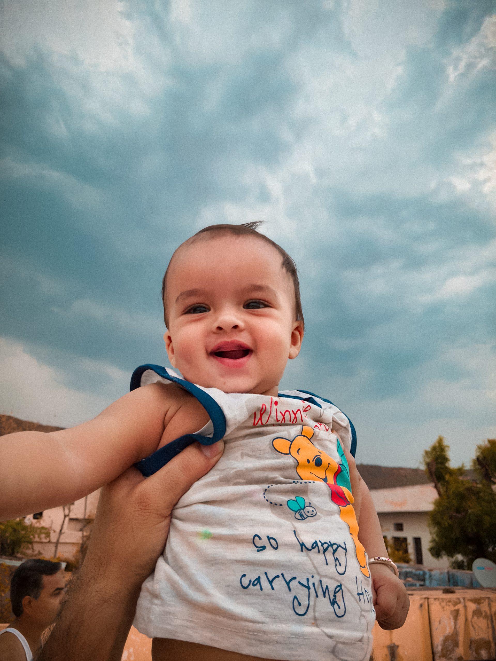 A smiling cute kid
