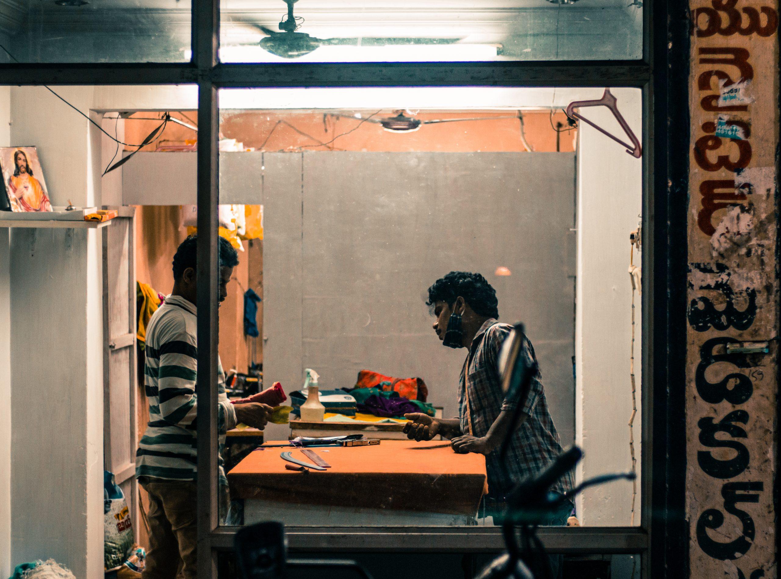 A tailor shop