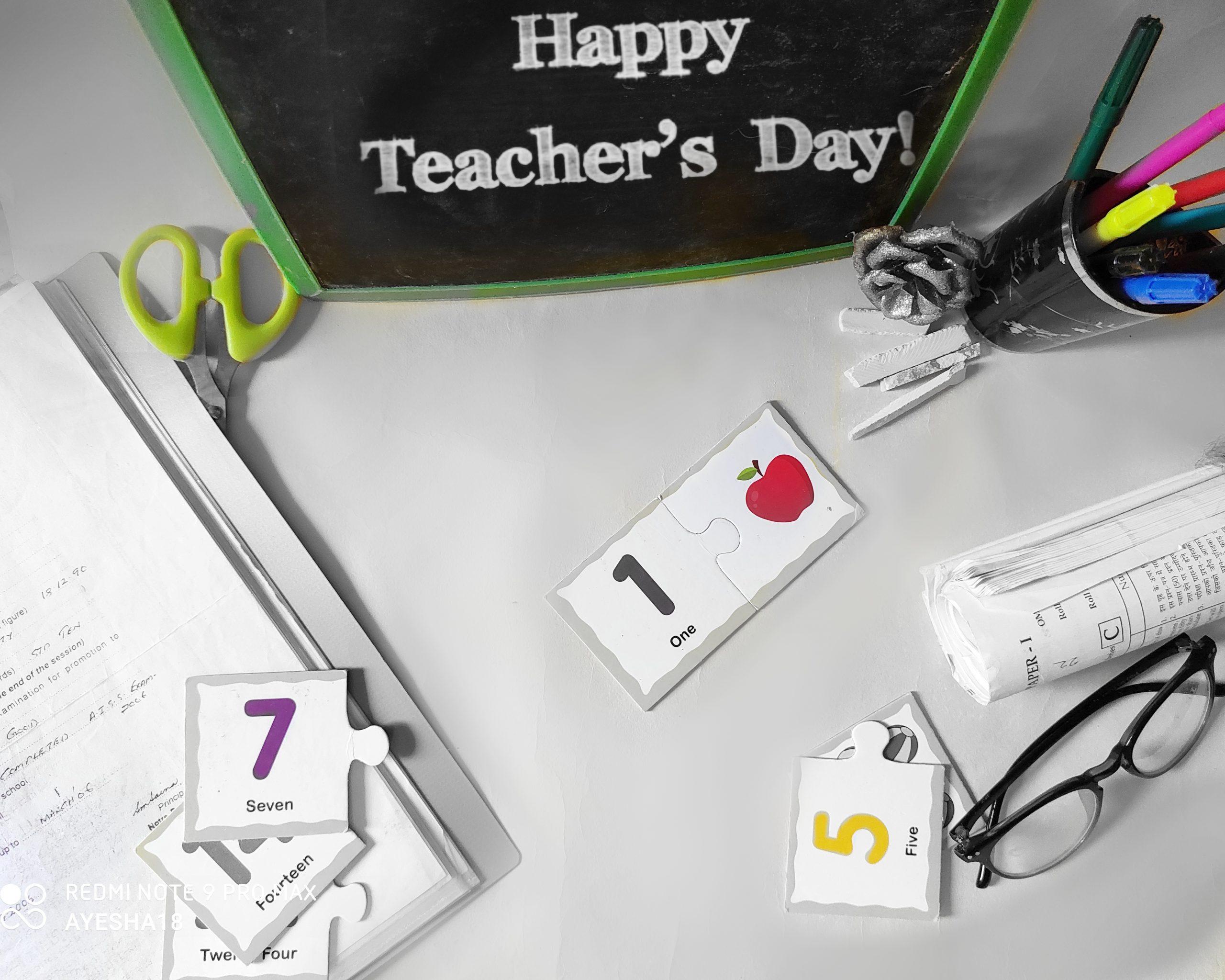 A teachers day flat lay