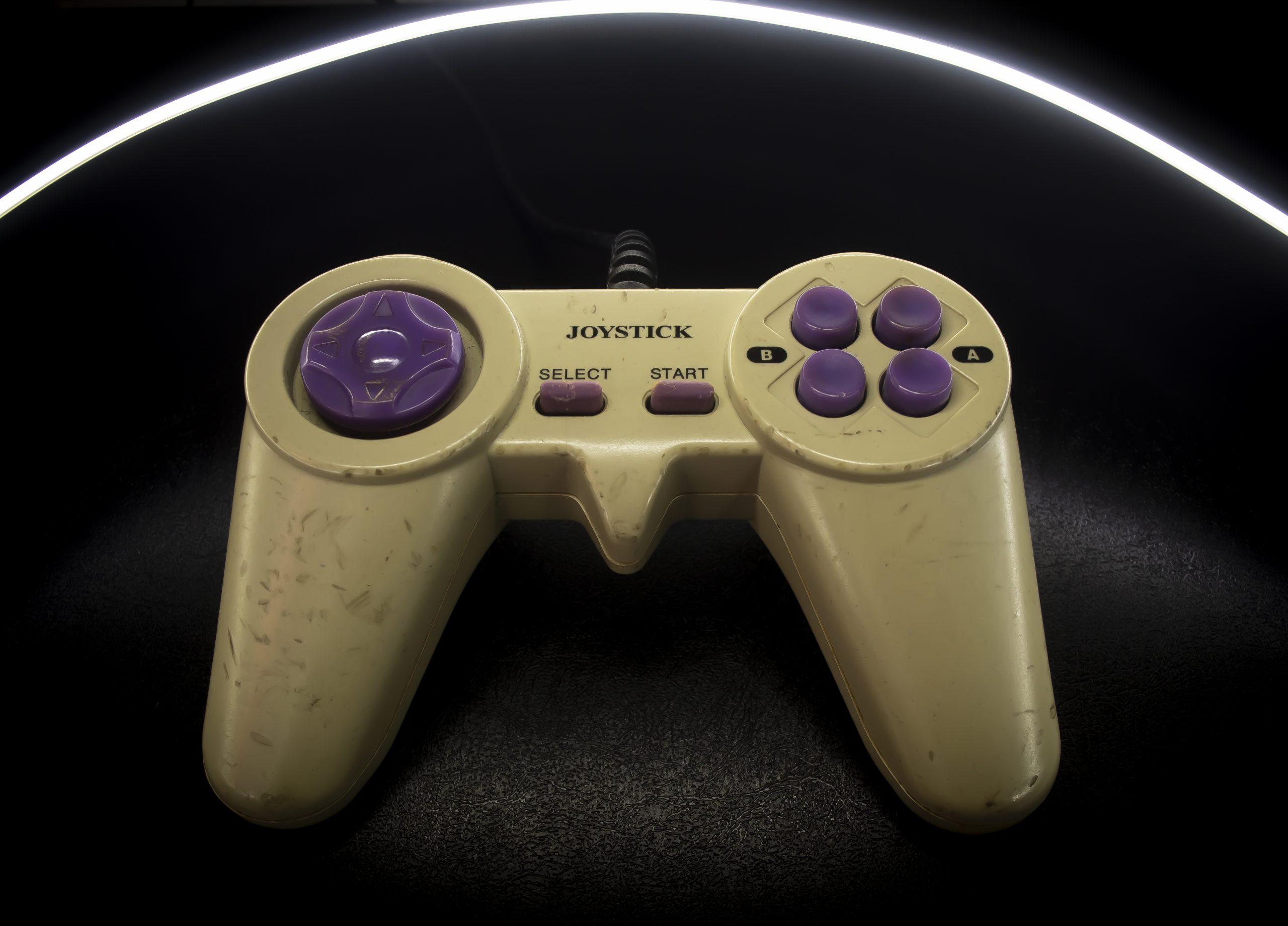 A video game joystick