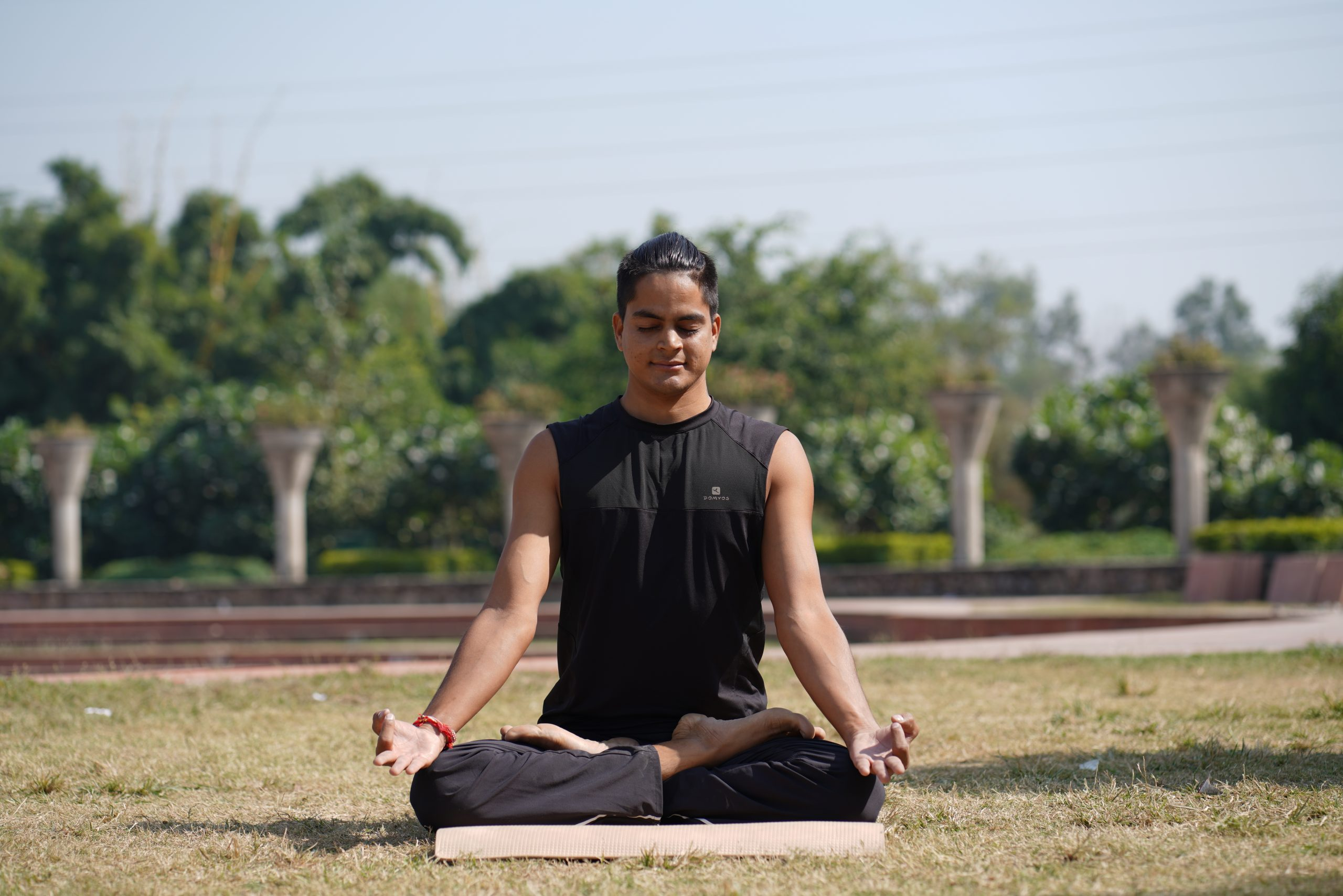 A yoga boy