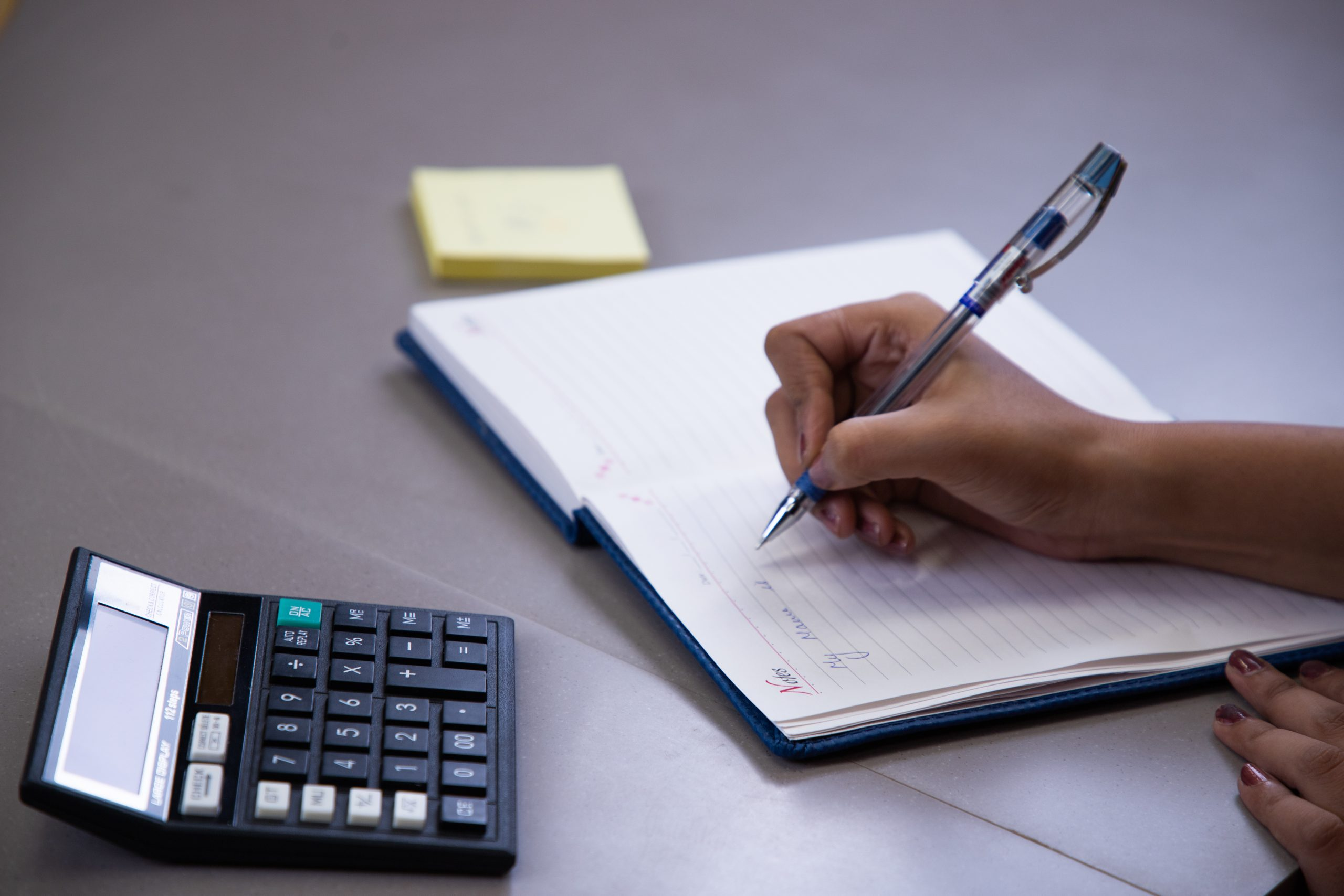 Account calculation with calculator