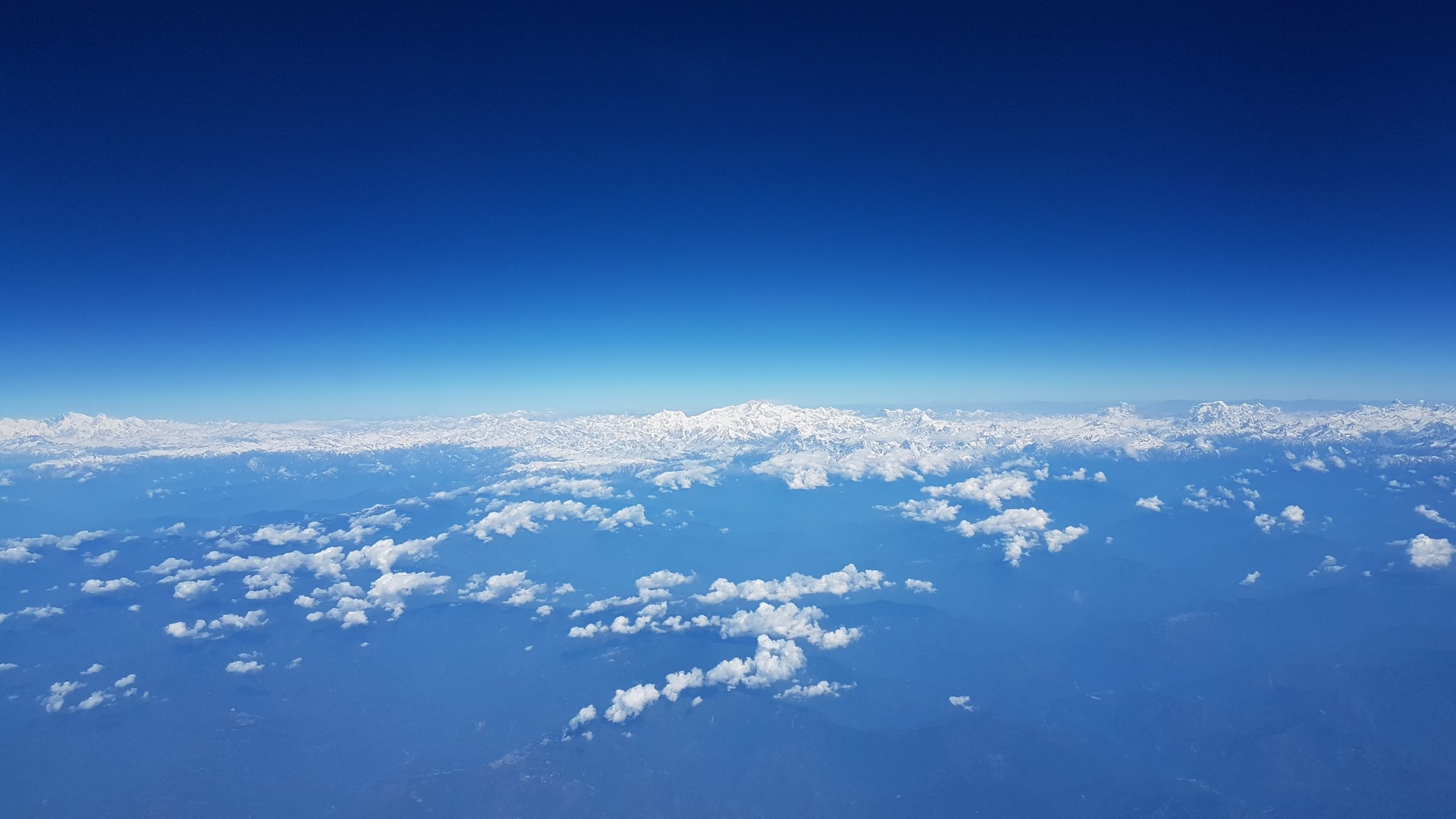 Aerial view of Himalaya