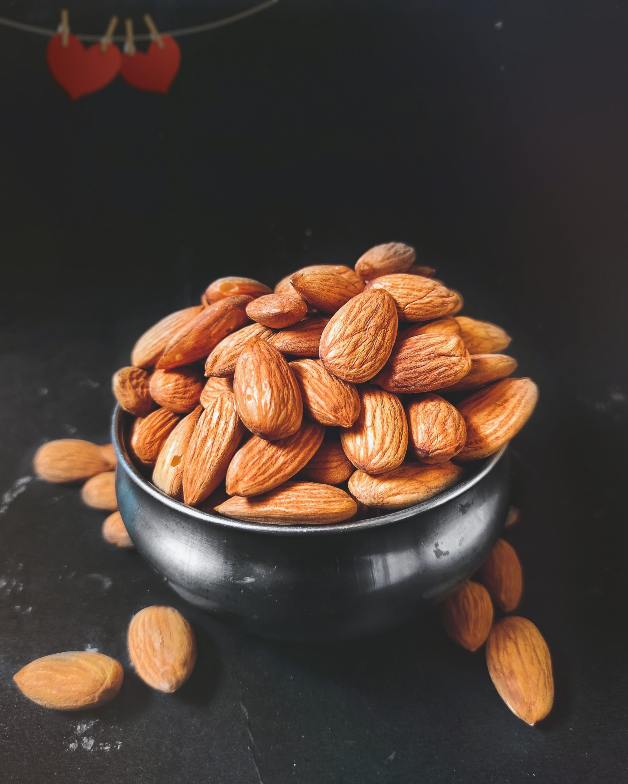 Almonds in bowl