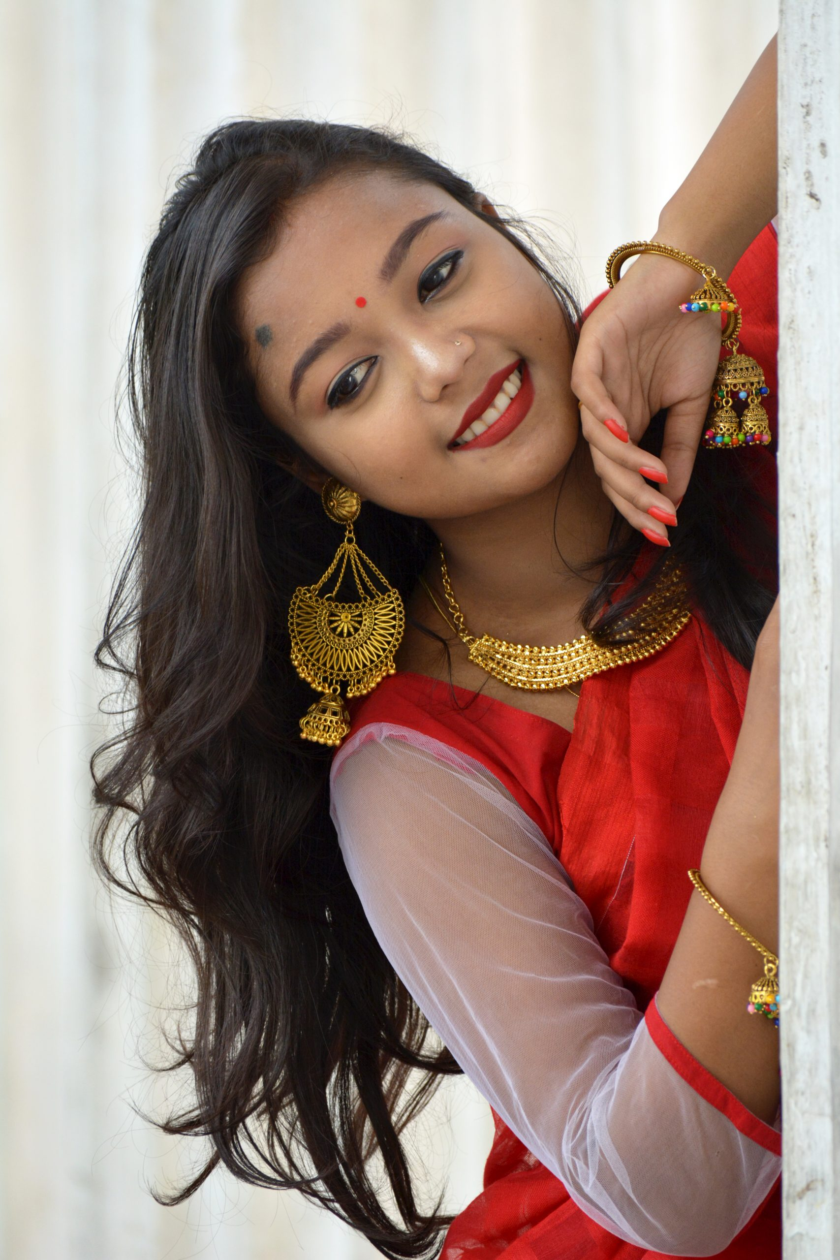 An Indian girl posing