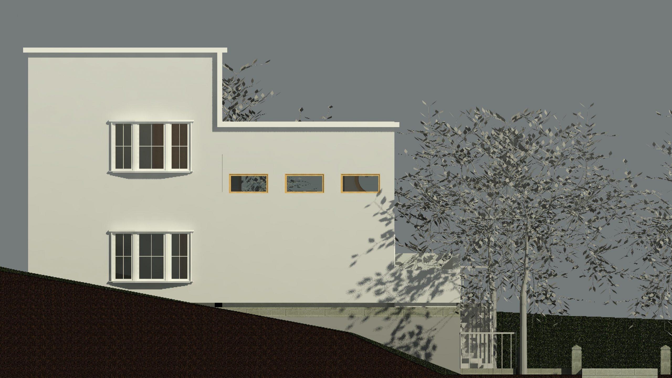 An animated house