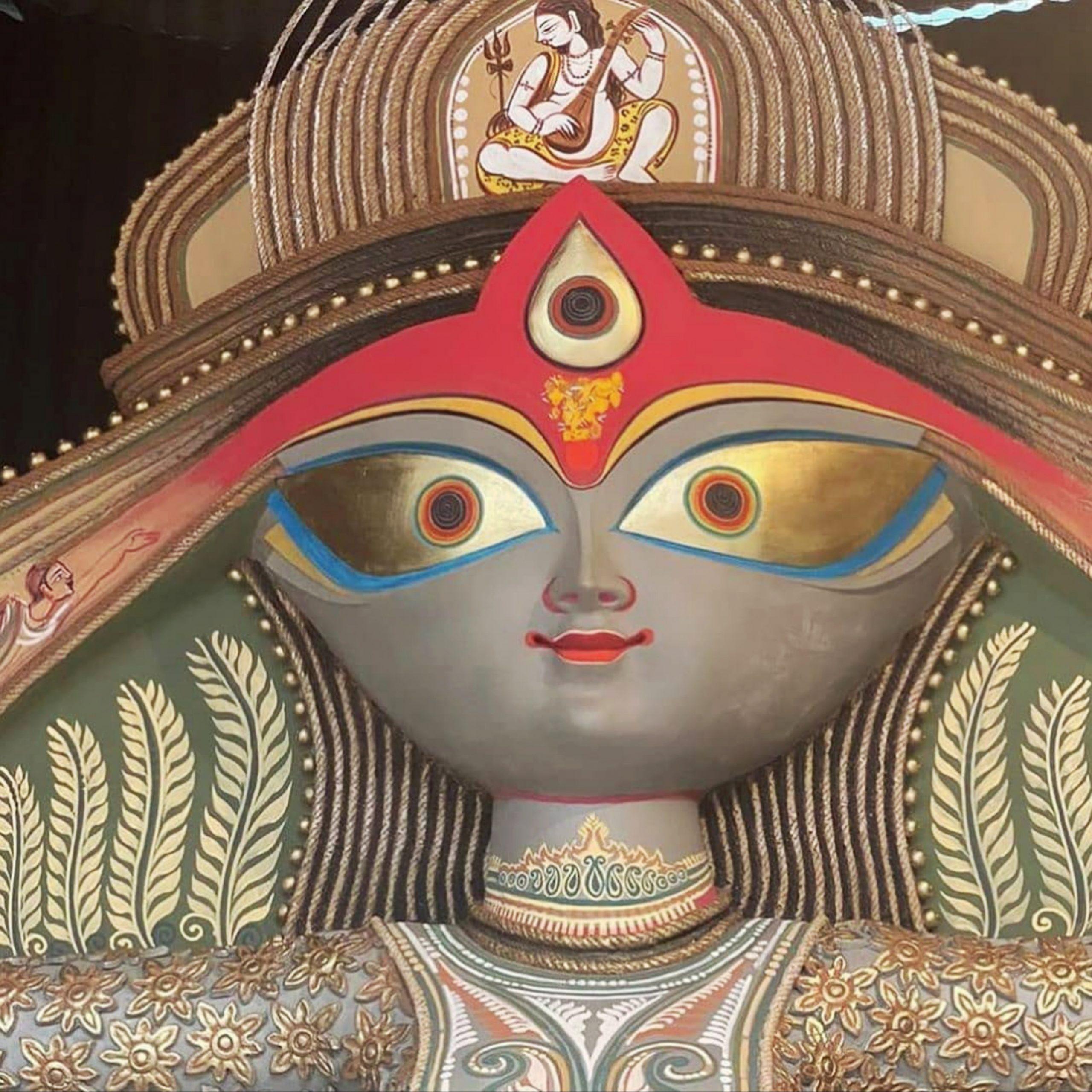 An idol of goddess Durga